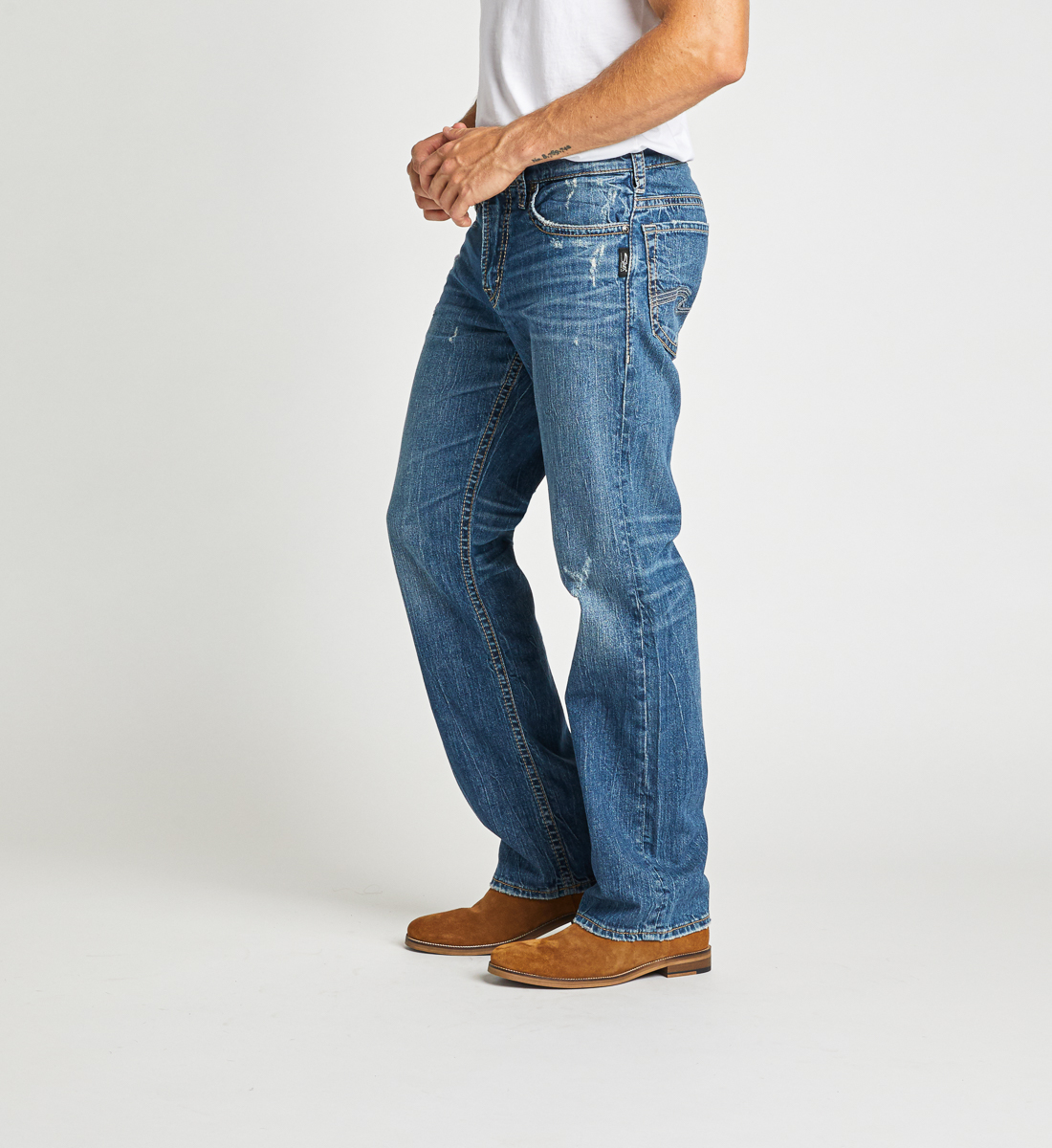 Gordie Loose Fit Straight Leg Jeans Side