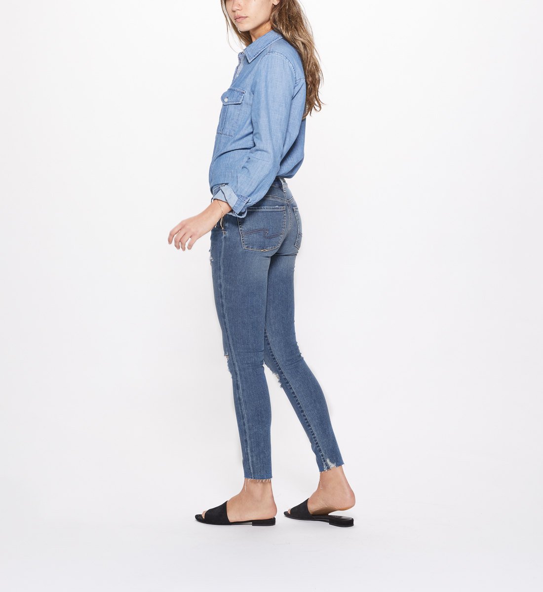 Landree Jegging Low Rise Medium Wash, , hi-res
