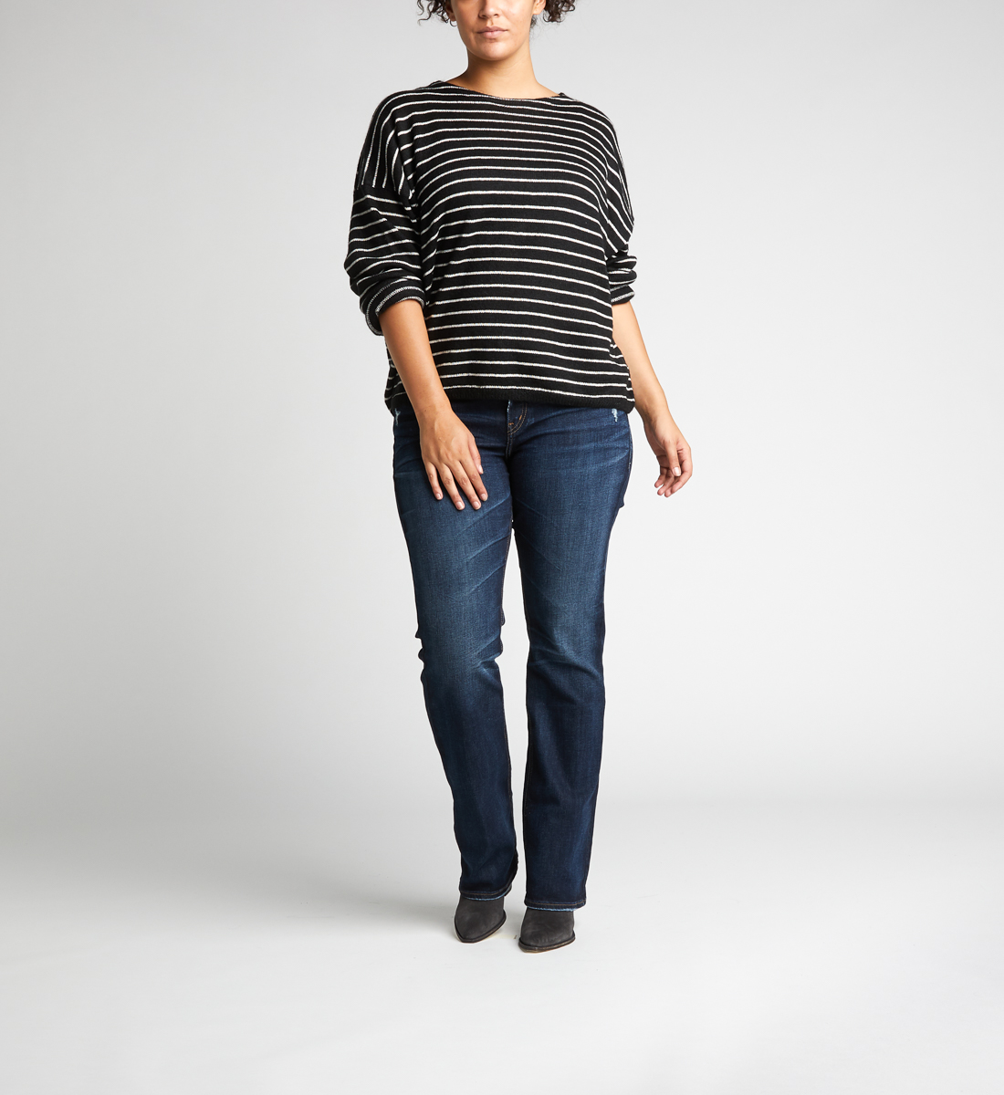 7d84fe187a2 Elyse Mid Rise Slim Bootcut Jeans Plus Size