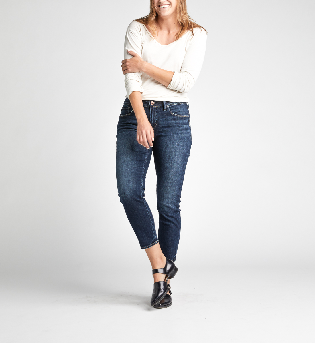 Avery High Rise Skinny Crop Jeans Alt Image 2