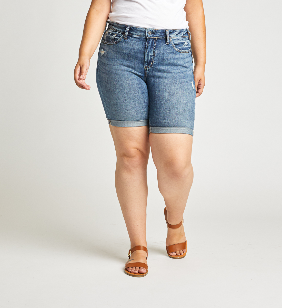 Avery High Rise Bermuda Short Plus Size Front