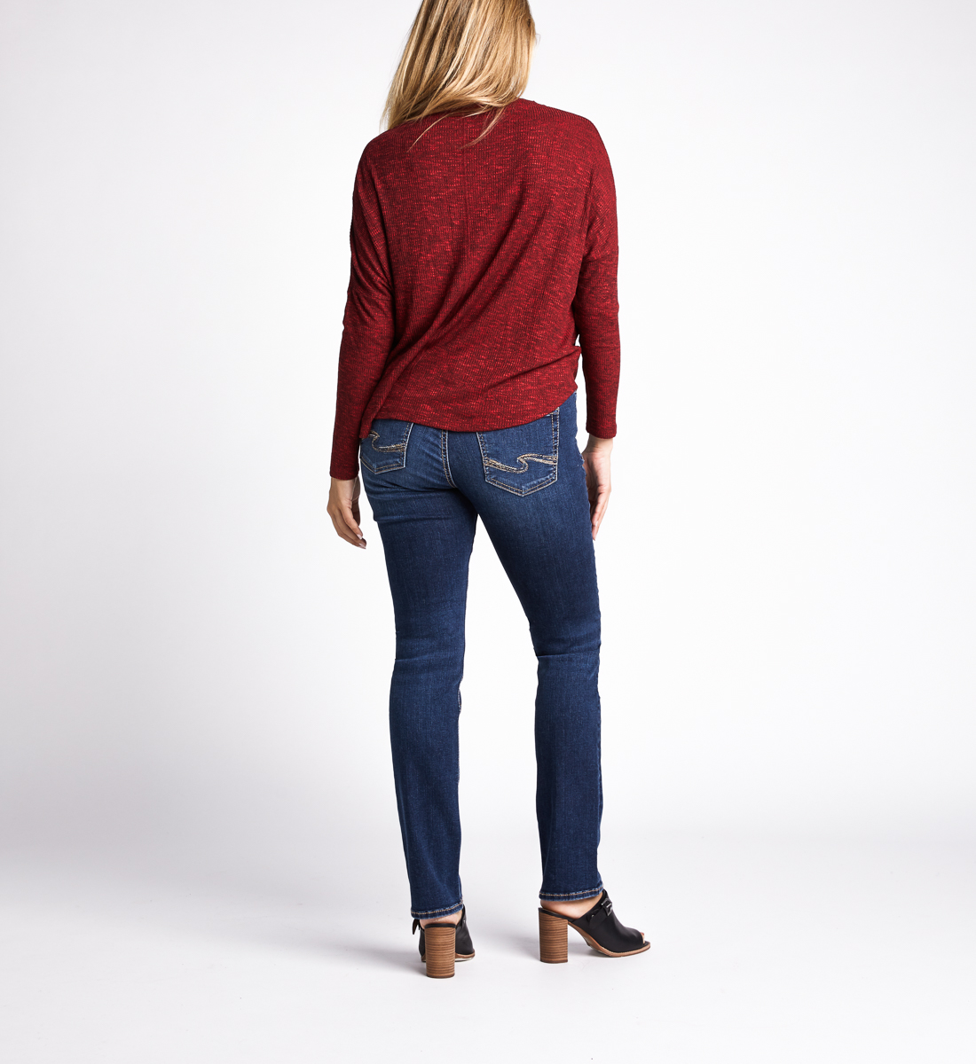 Amelia Button-Front Top,Burgandy Side