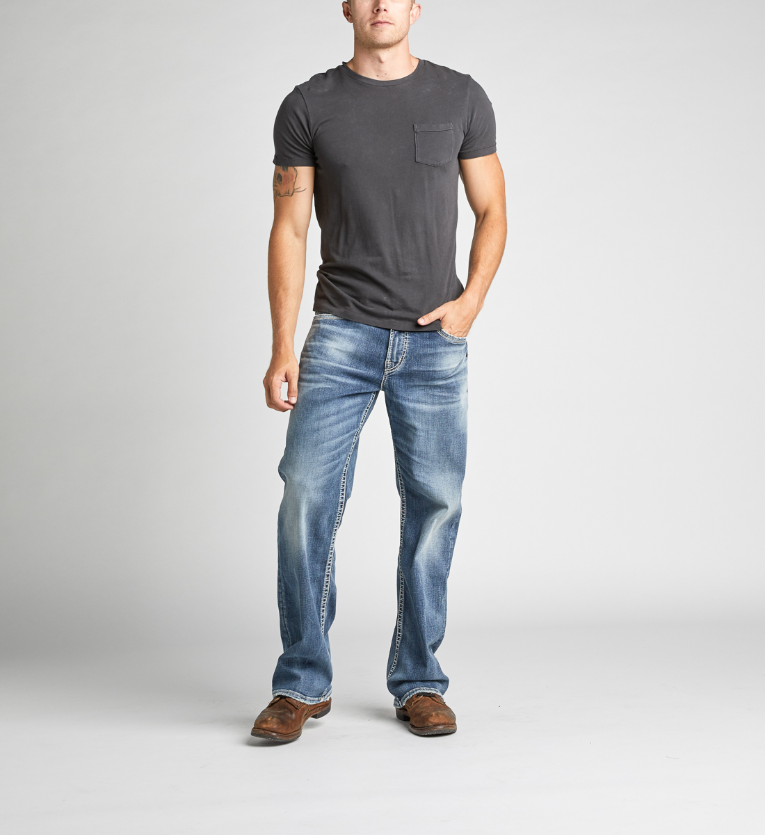 Gordie Loose Fit Straight Leg Jeans Alt Image 1