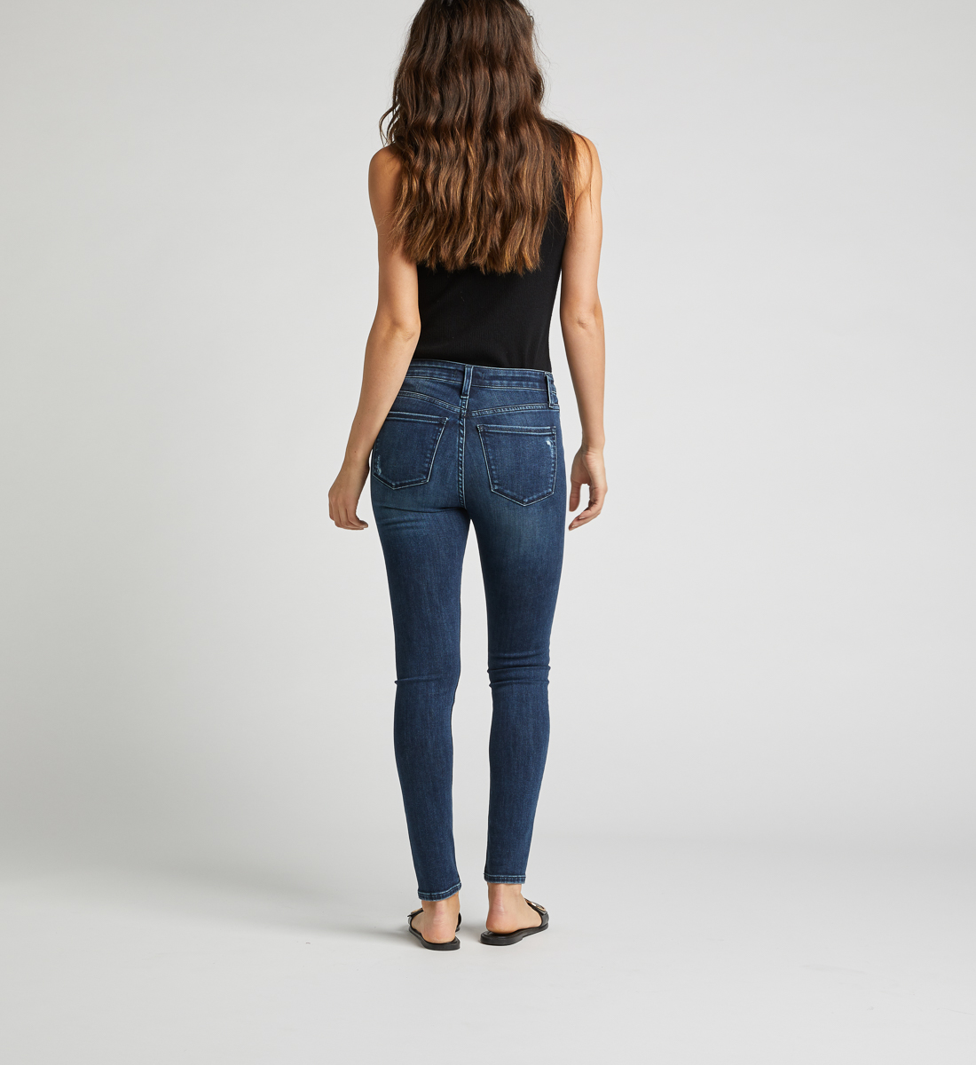 Most Wanted Mid Rise Skinny Leg Jeans Back