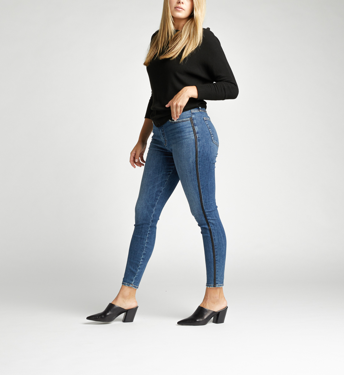 Calley Super High Rise Skinny Jeans Side