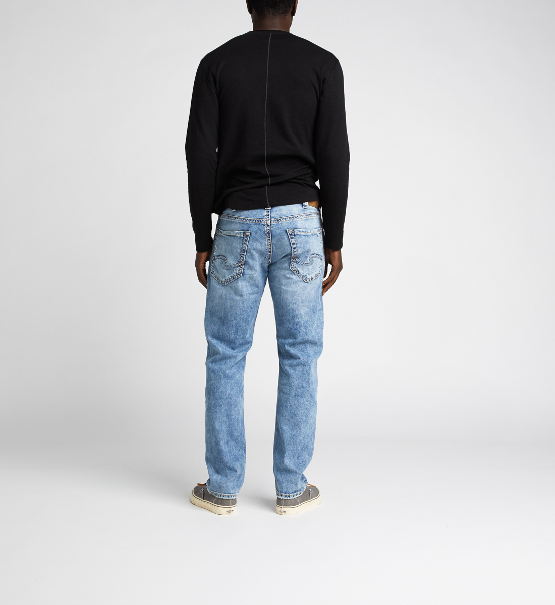 Eddie Relaxed Fit Tapered Leg Jeans, Indigo, hi-res