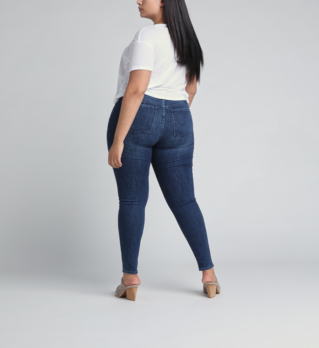 Most Wanted Mid Rise Skinny Leg Jeans Plus Size,Indigo Back