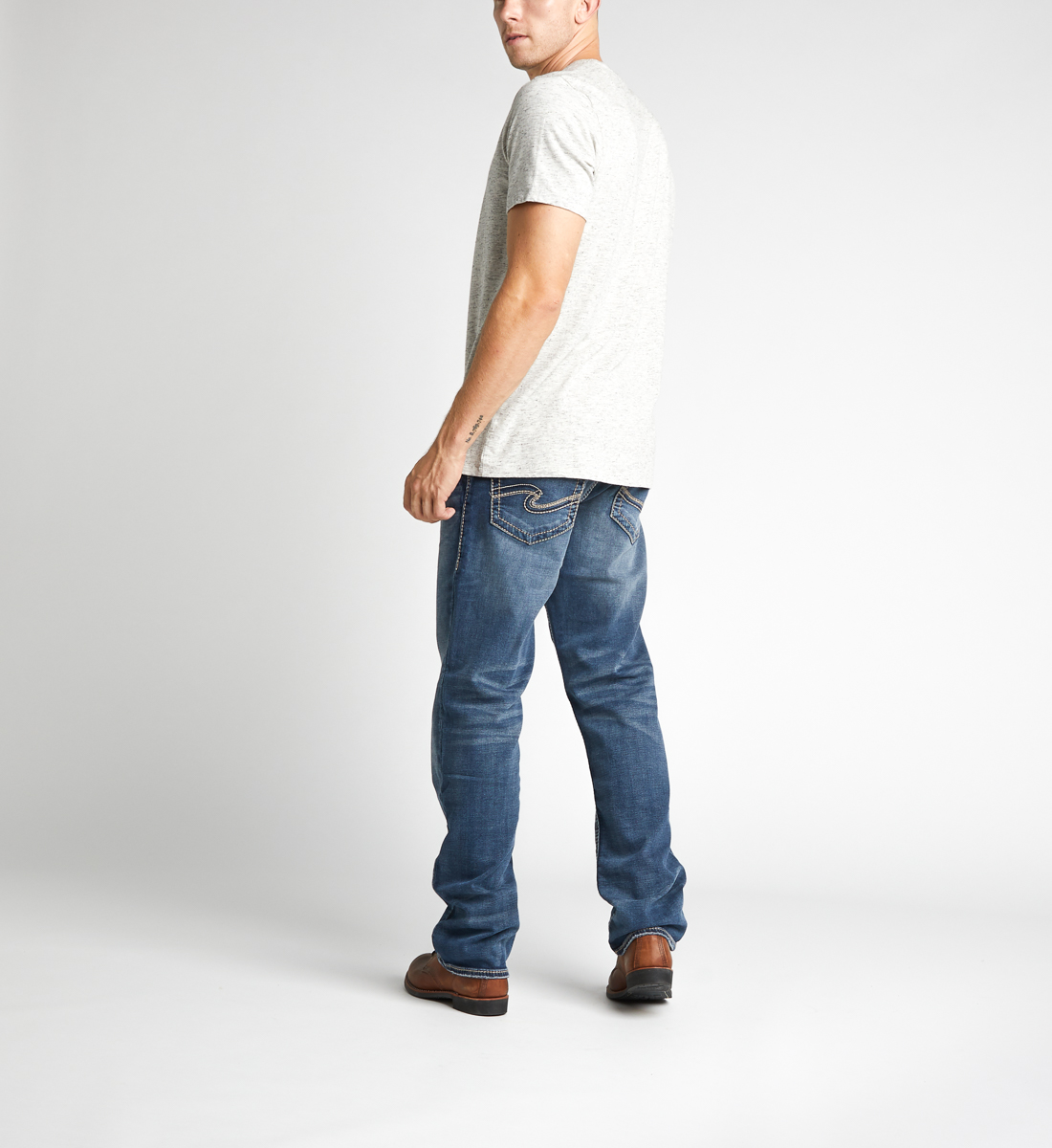 Eddie Tapered Mens Dark Wash - Big & Tall Back