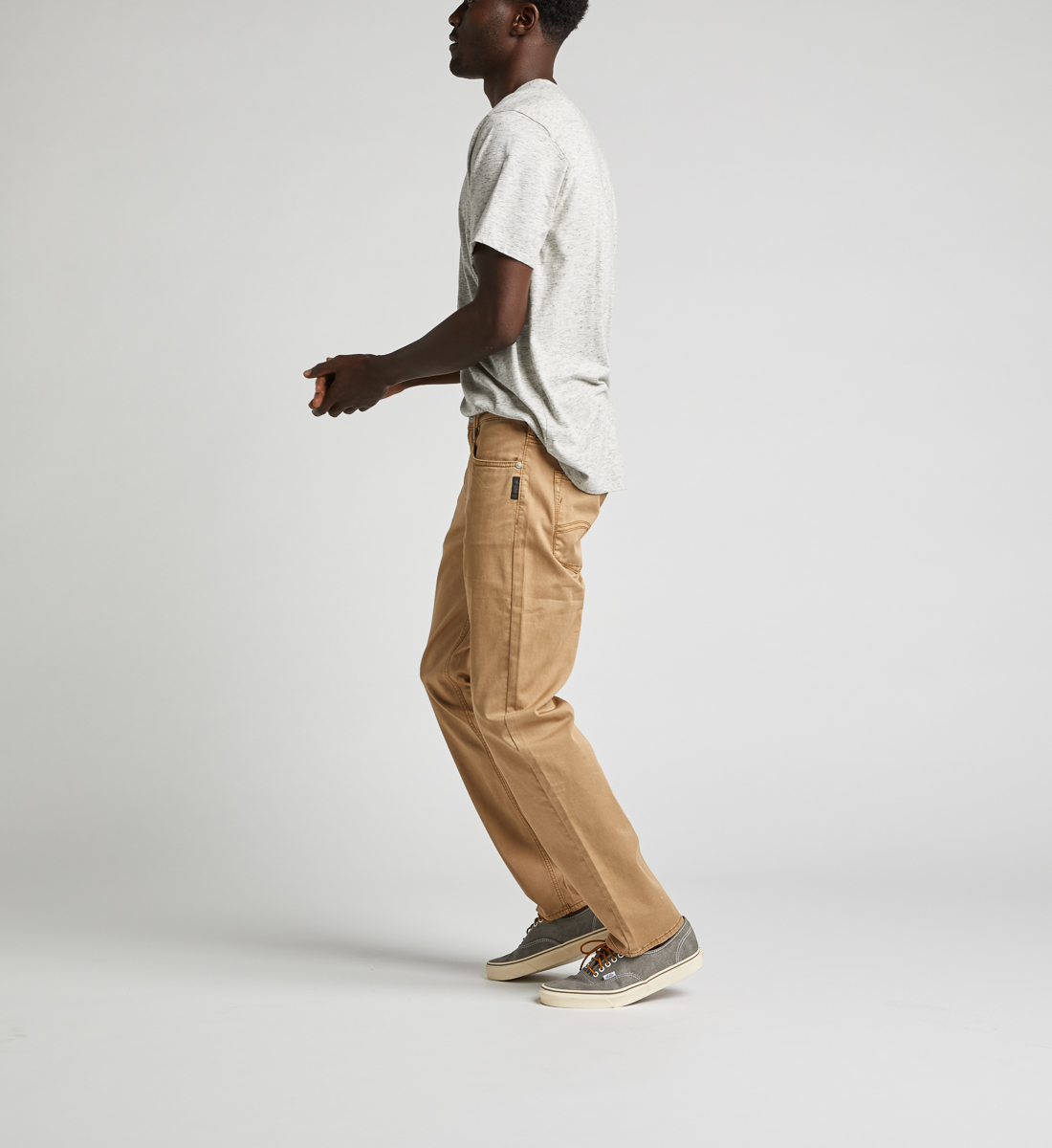 Eddie Relaxed Fit Tapered Leg Pants, Light Tan, hi-res