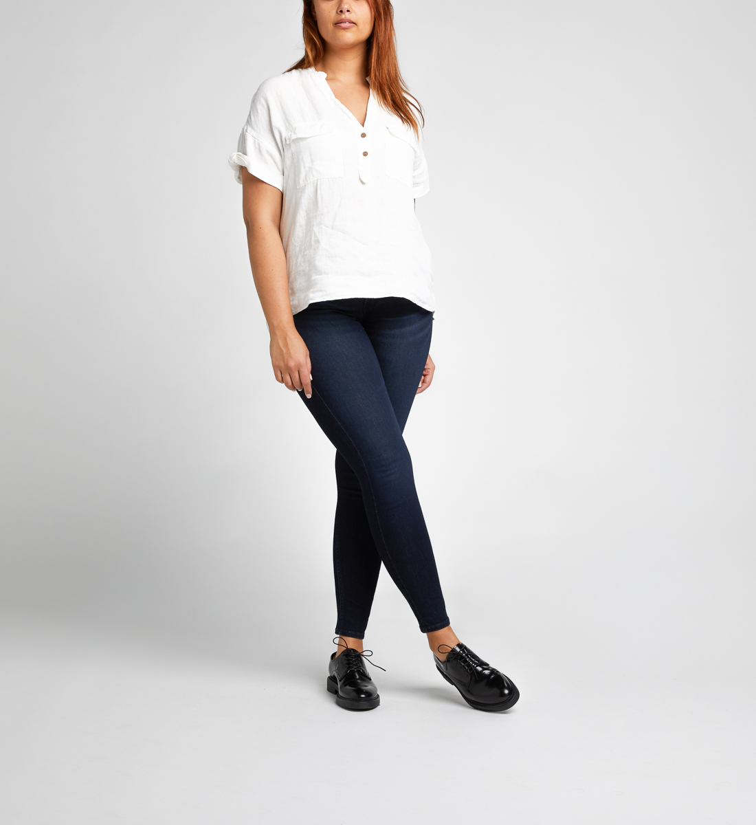 Mazy High Rise Skinny Leg Jeans Final Sale Alt Image 1