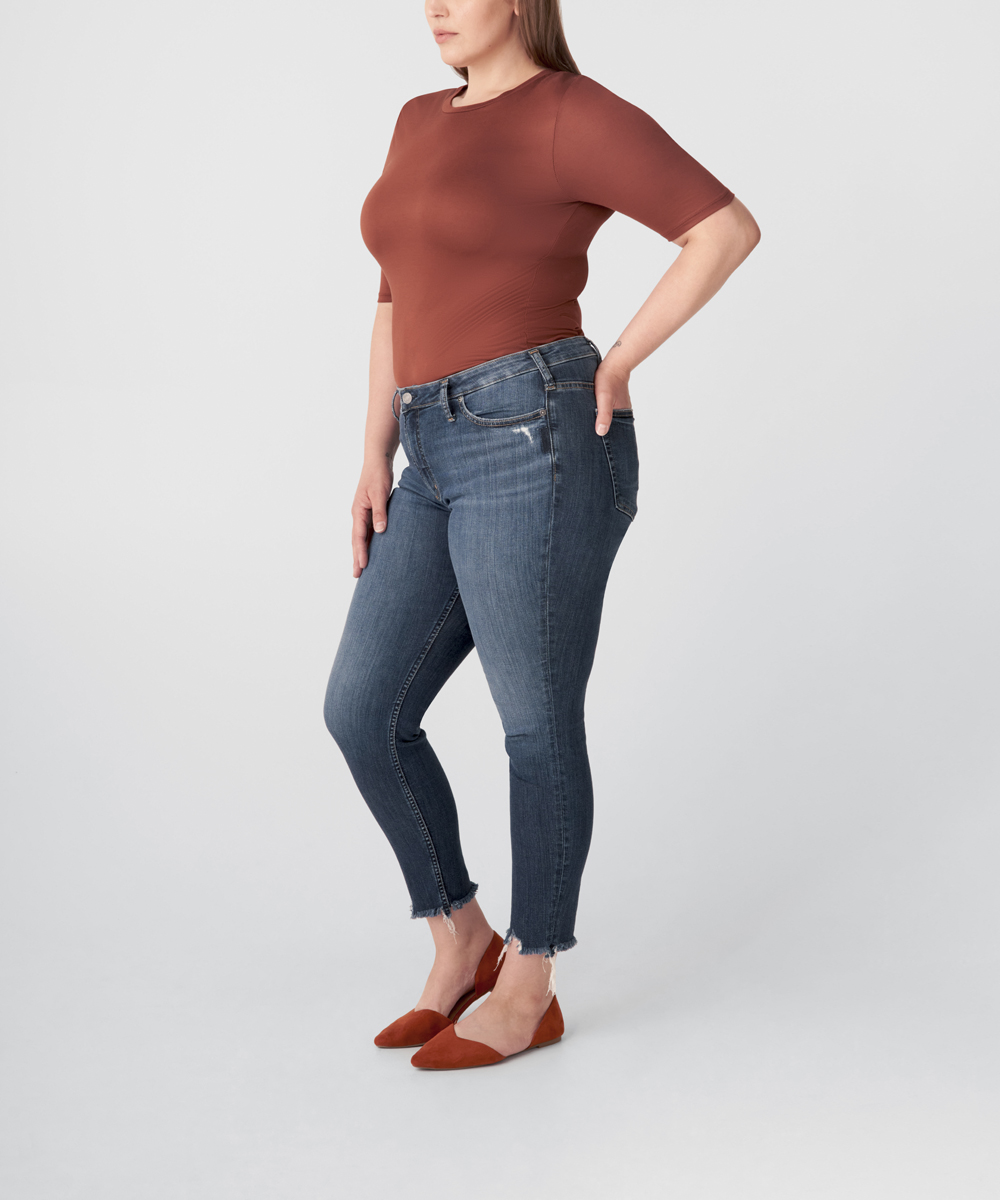 Most Wanted Mid Rise Skinny Jeans Plus Size - Eco-Friendly Wash Back