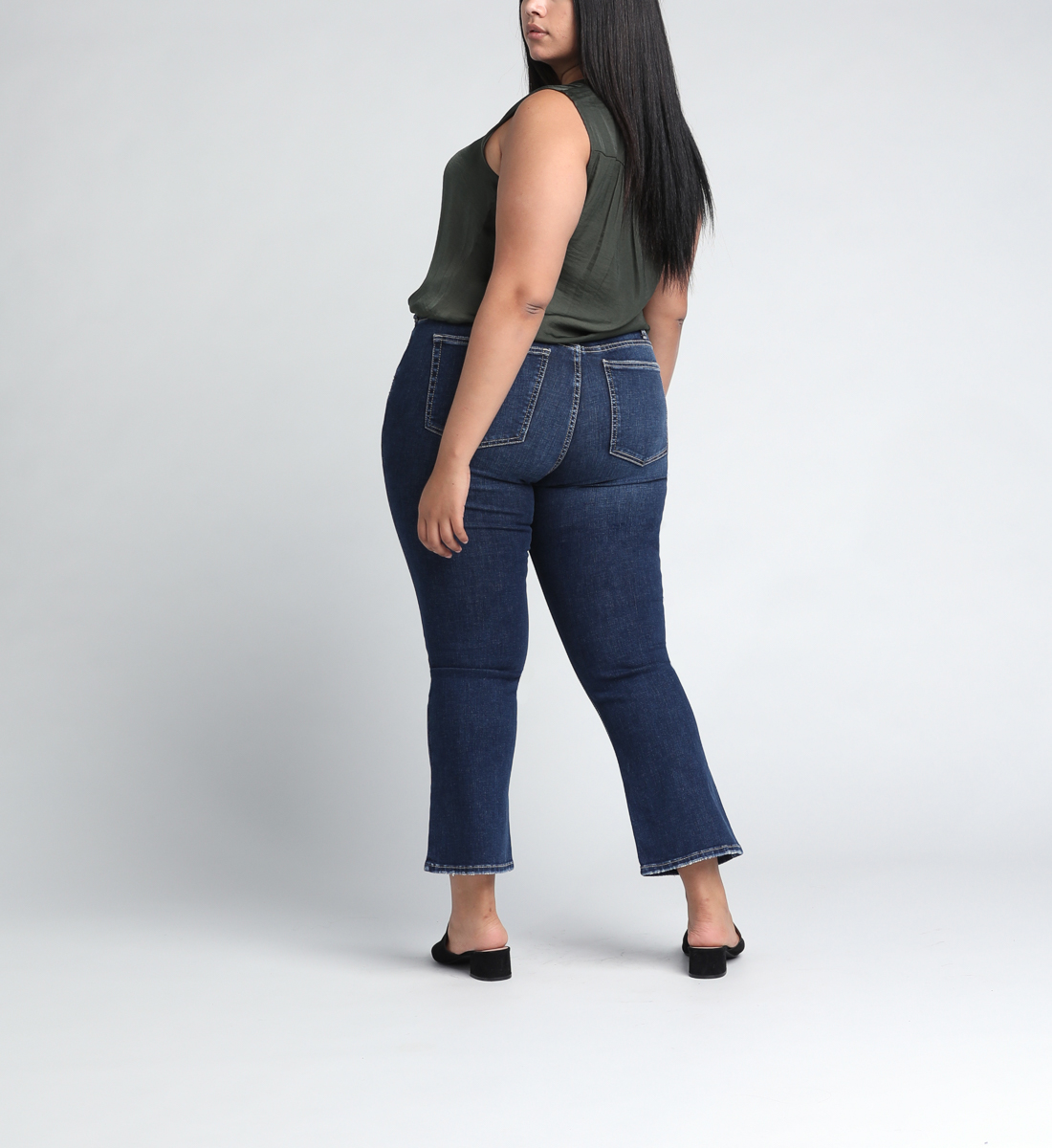 High Note High Rise Boot Crop Jeans Plus Size Back
