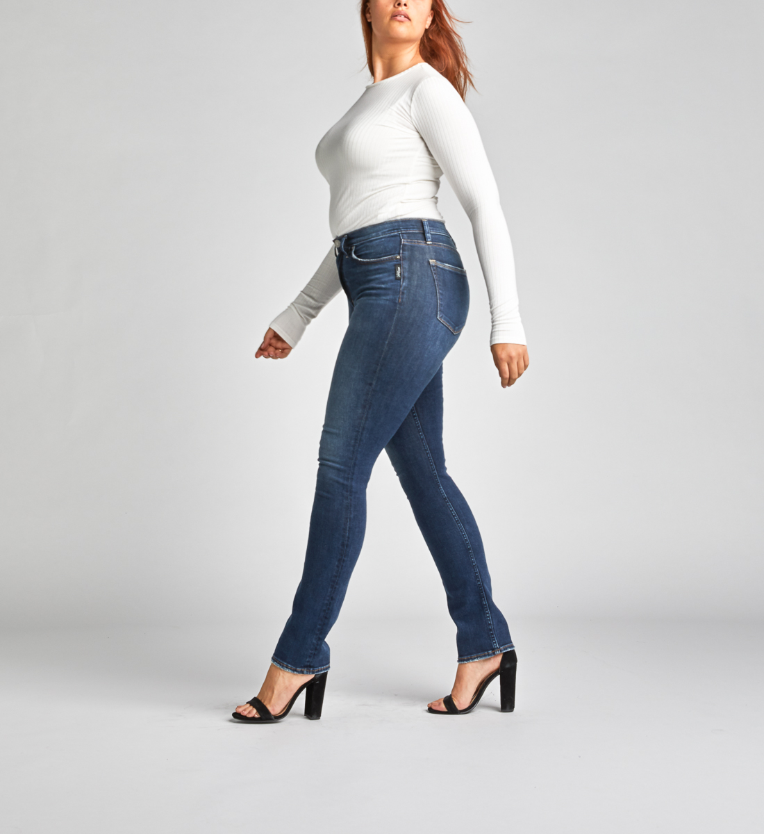 Calley Super High Rise Straight Leg Jeans Side