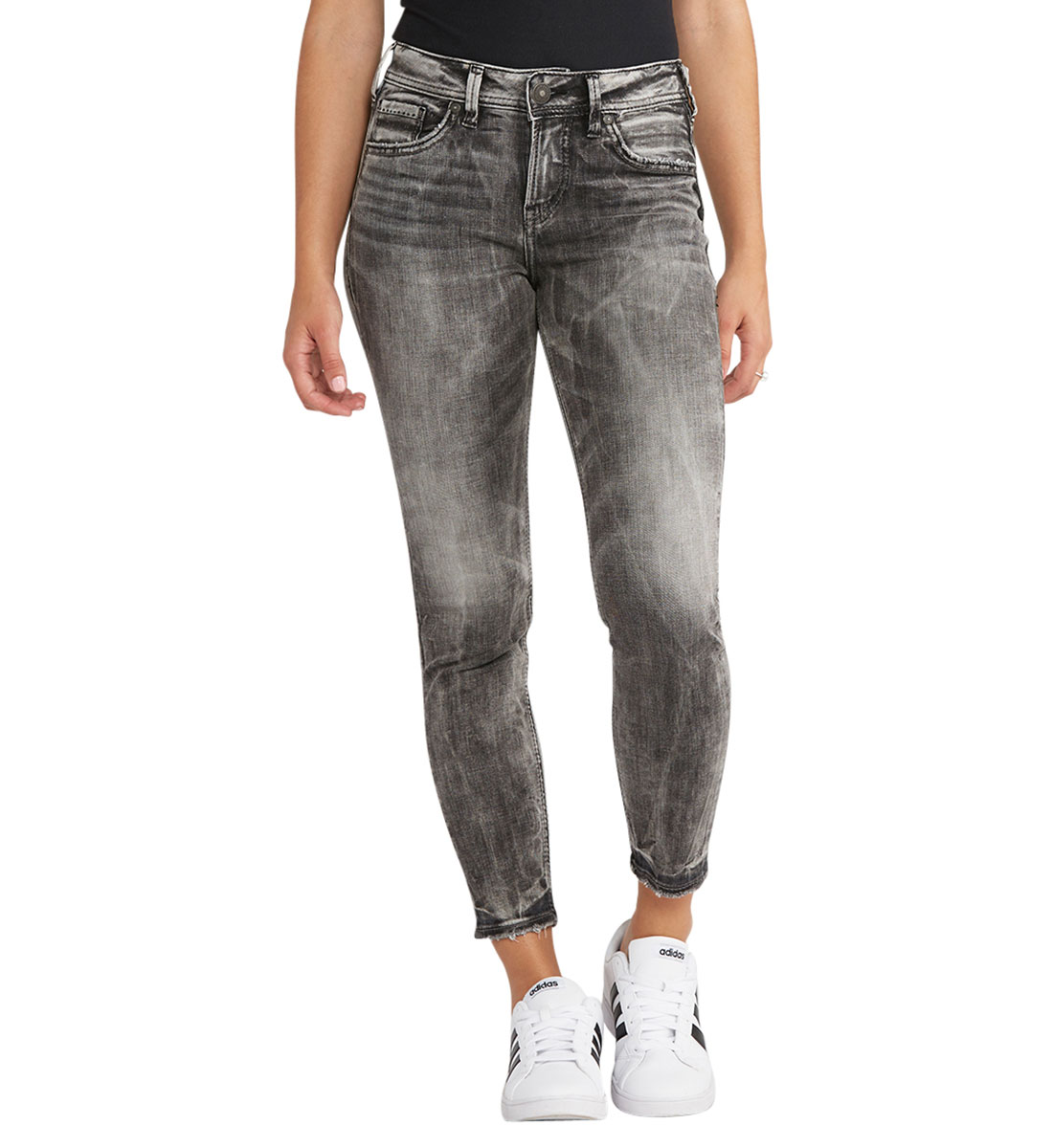 Avery Ankle Skinny Color Wash Front
