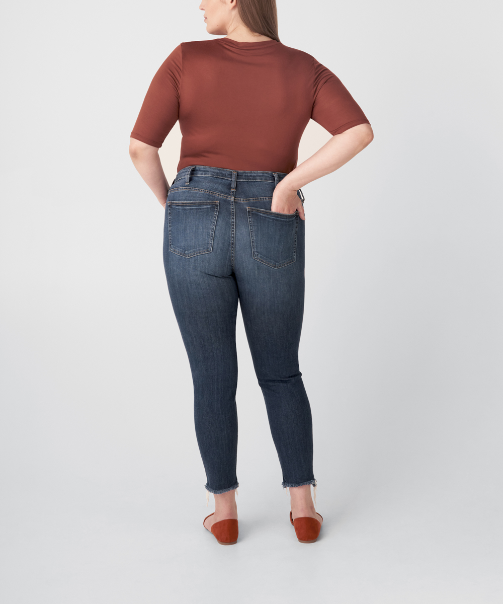 Most Wanted Mid Rise Skinny Jeans Plus Size - Eco-Friendly Wash Side