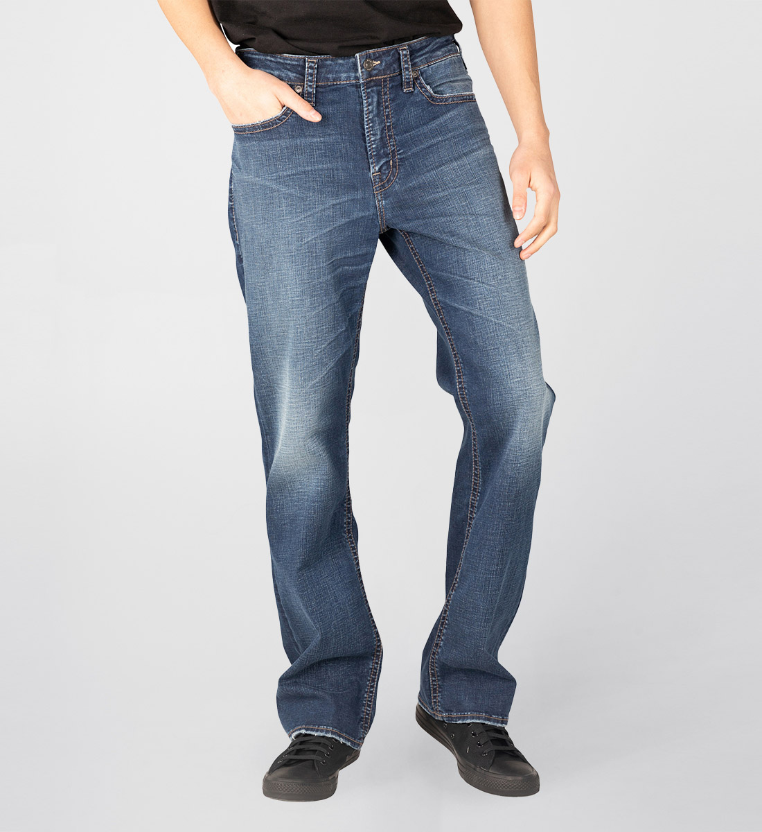 Craig Easy Fit Bootcut Jeans Front