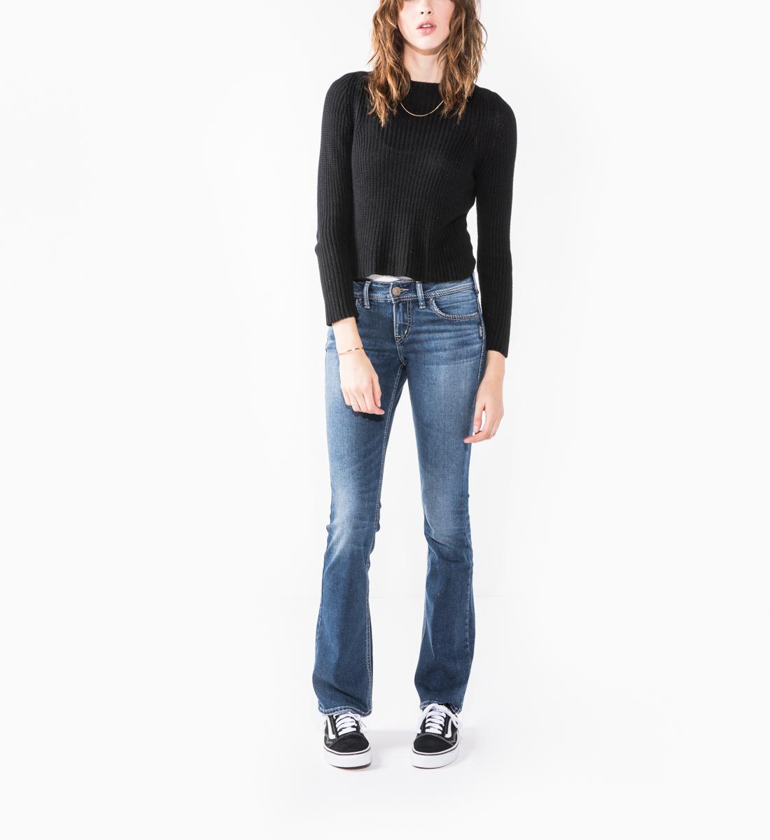 a659e3a5 Elyse Mid Rise Slim Bootcut Jeans, , hi-res