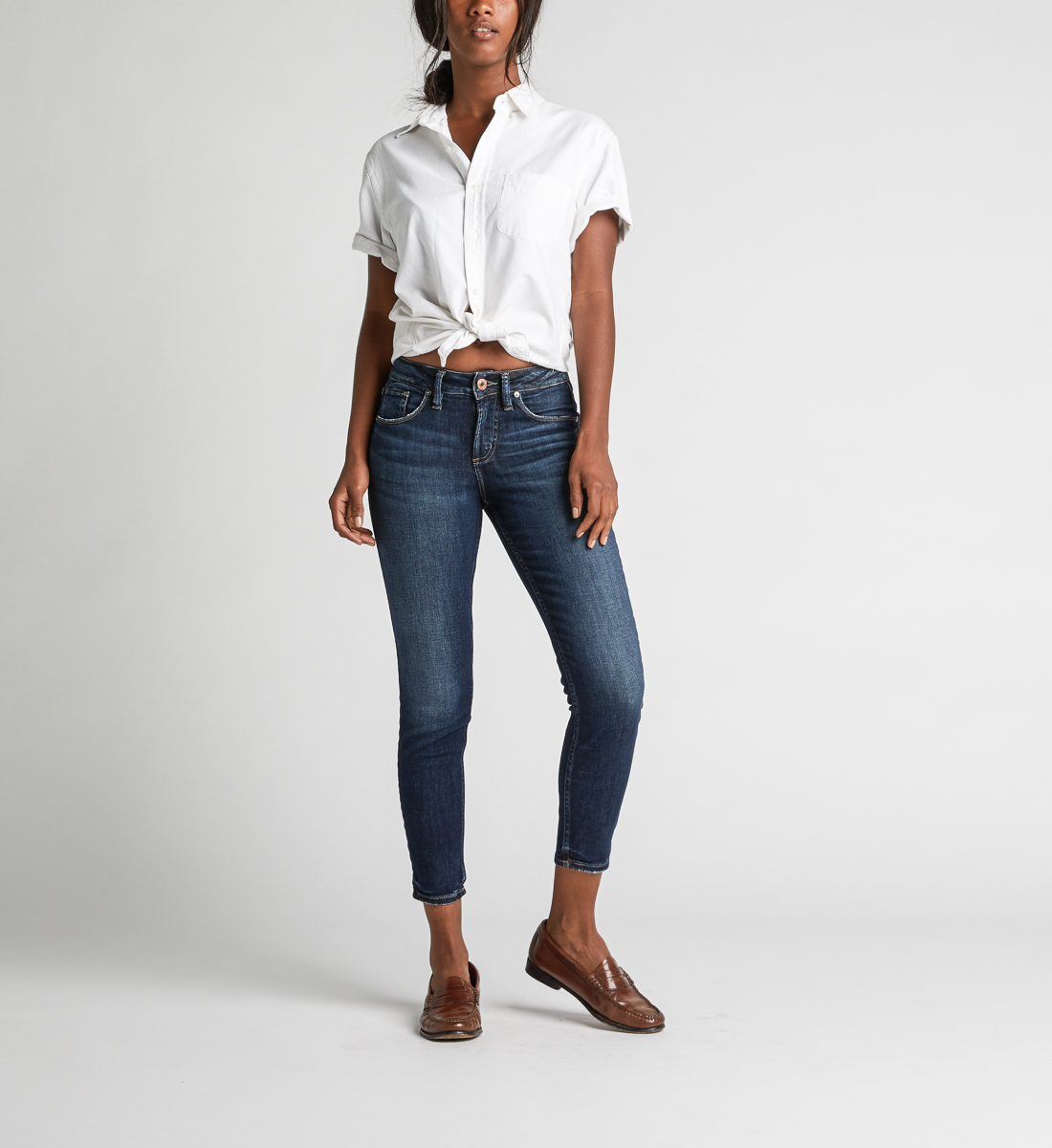 Avery High Rise Skinny Crop Jeans Alt Image 1