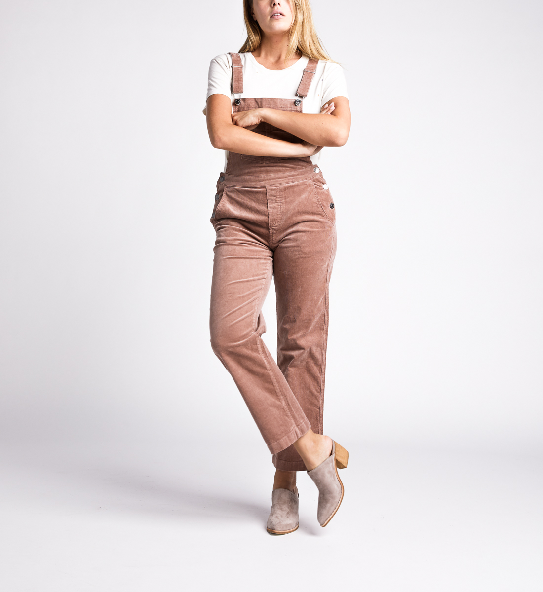 Overall Straight Leg Pants,Blush Front
