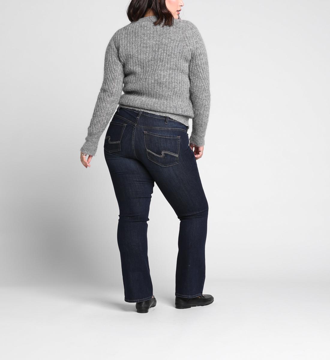Suki Plus Size Slim Boot Dark Wash Silver Jeans
