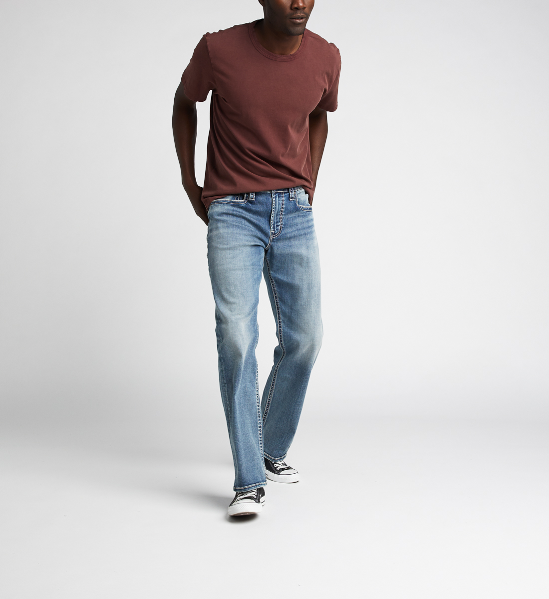 Zac Relaxed Fit Straight Jeans,Indigo Front