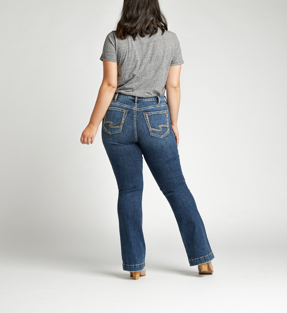 Calley Super High Rise Bootcut Plus Size Jeans Back