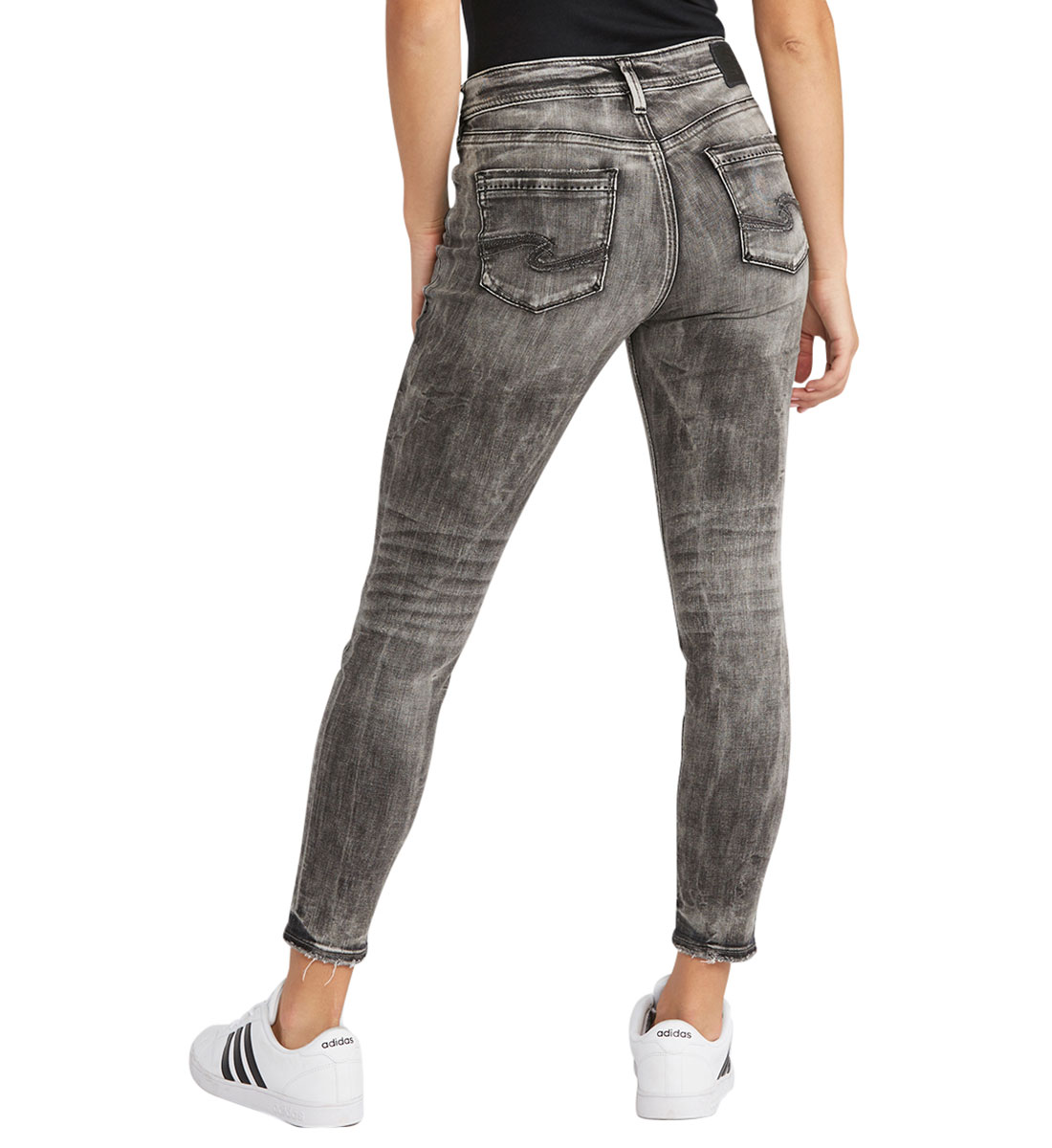 Avery Ankle Skinny Color Wash Back