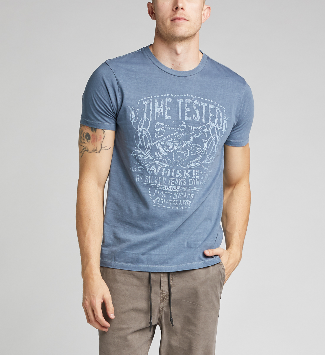 Dax Short-Sleeve Graphic Tee,Blue Front