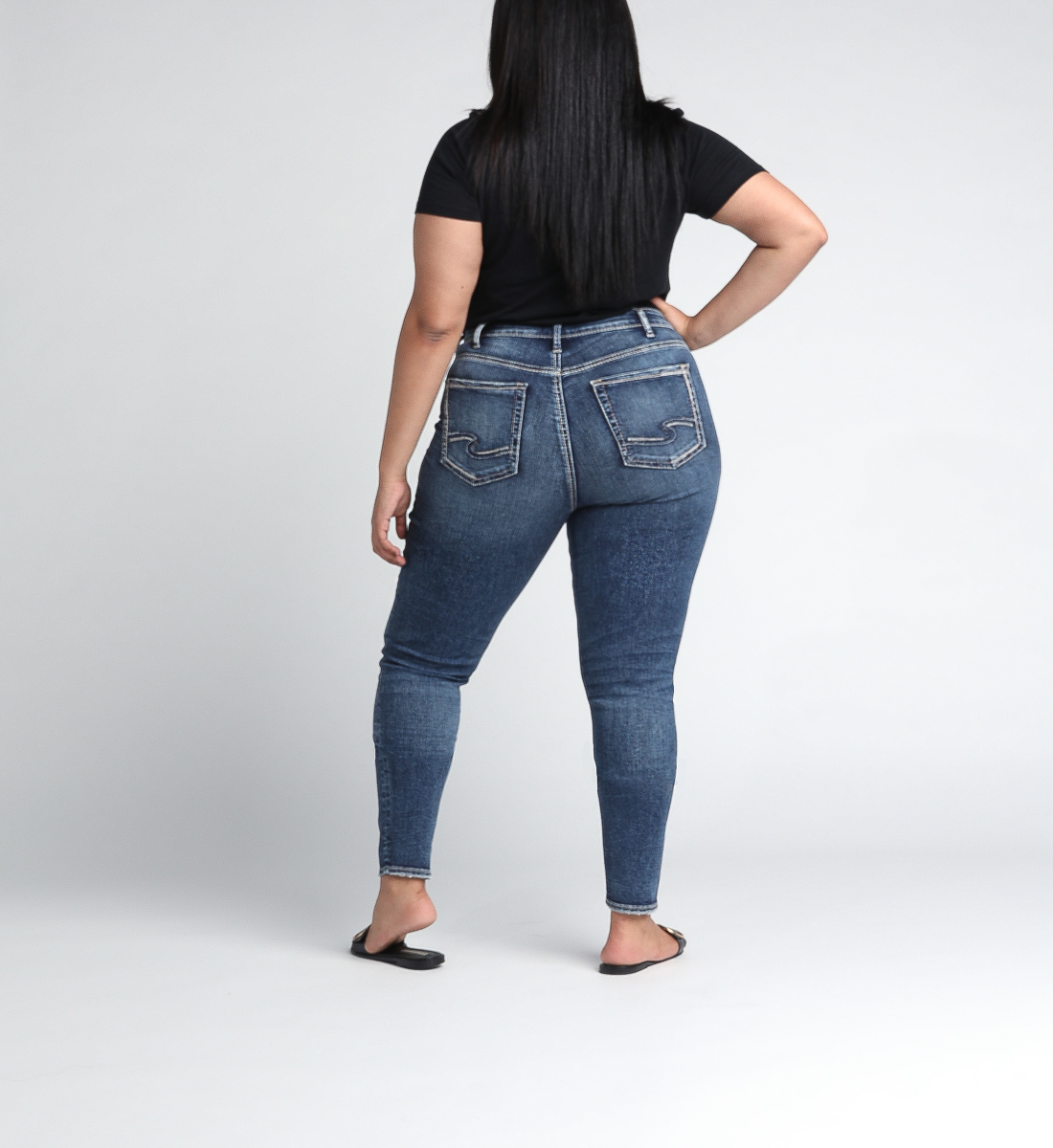Avery High Rise Skinny Leg Jeans Plus Size Back
