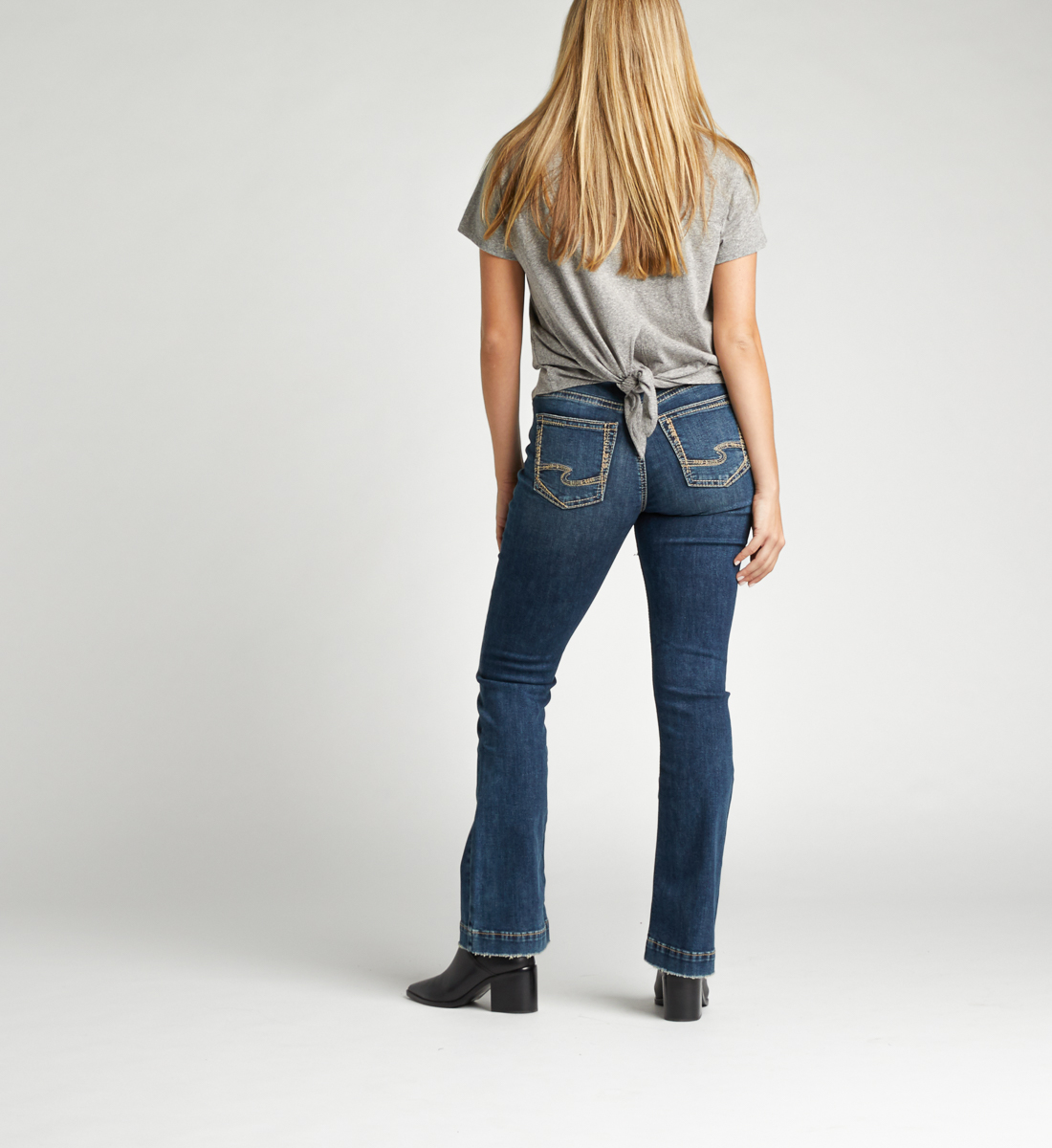 Calley Super High Rise Bootcut Jeans Back