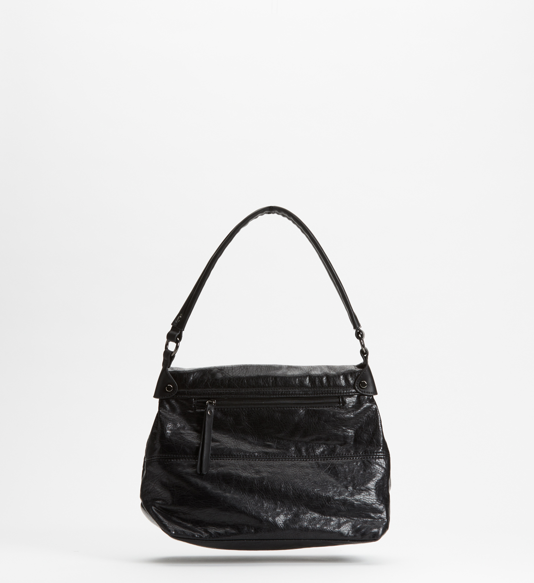 Flap Satchel,Black Back