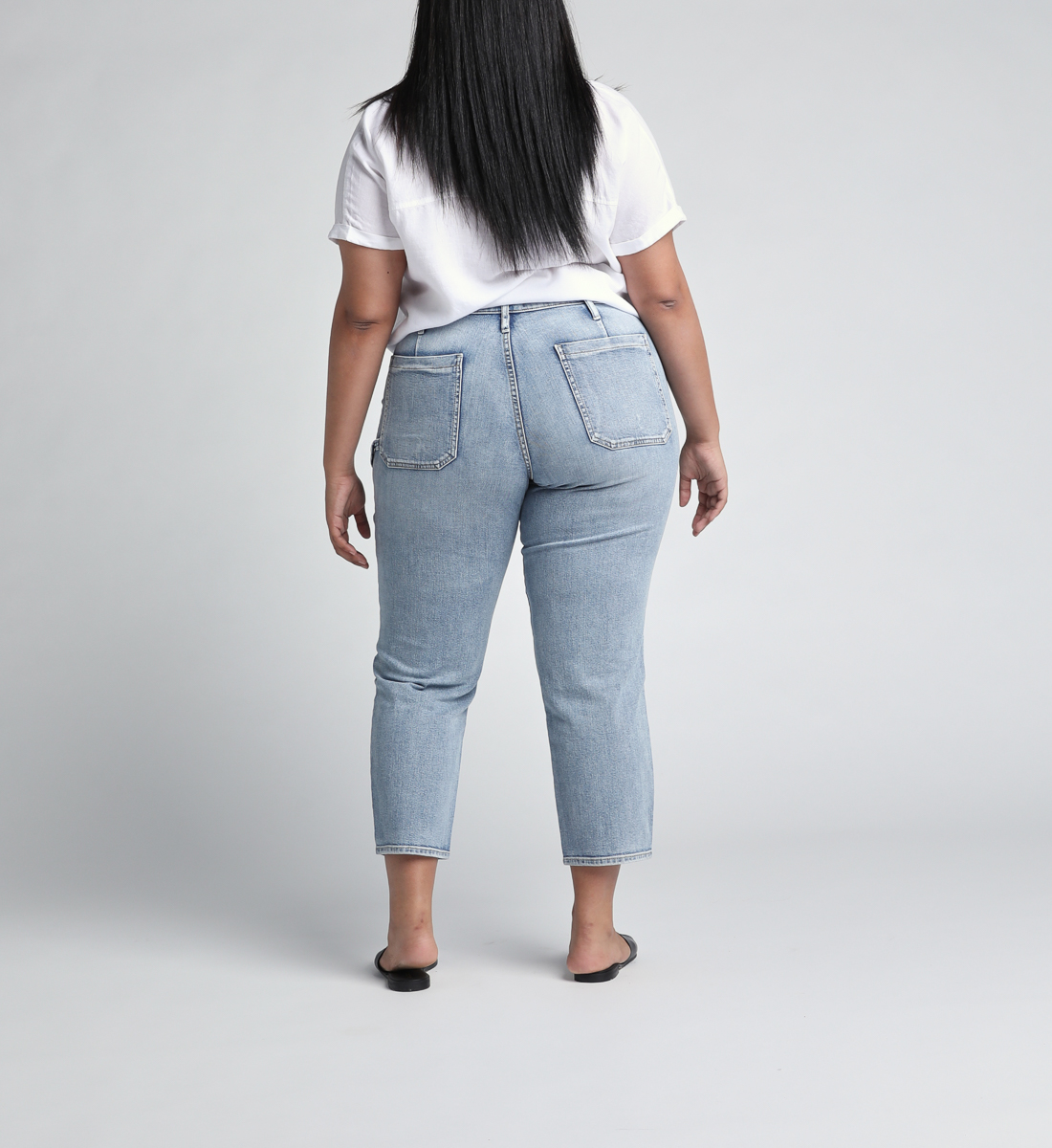 In The Loop Mid Rise Ankle Slim Leg Jeans Plus Size Back