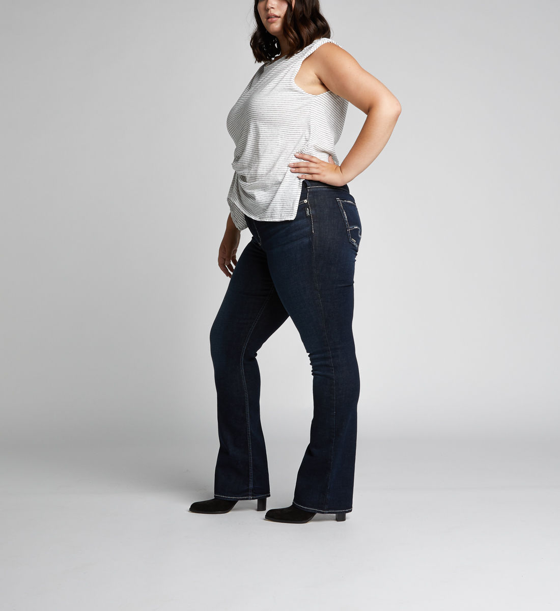 Avery High Rise Slim Bootcut Jeans Plus Size, , hi-res