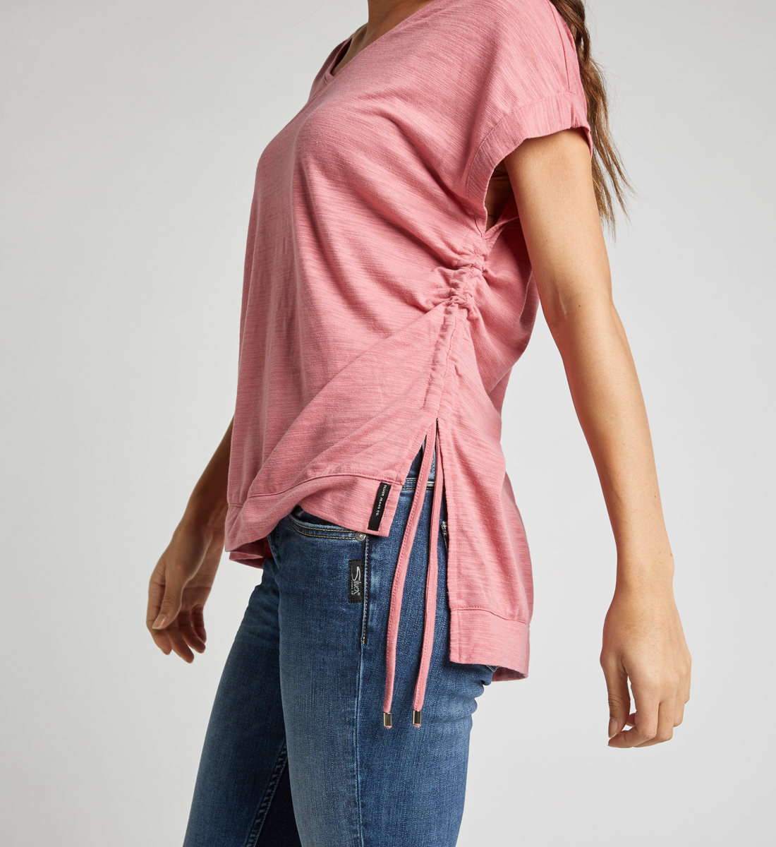 Agnes Side Tie Top,Rose Alt Image 1