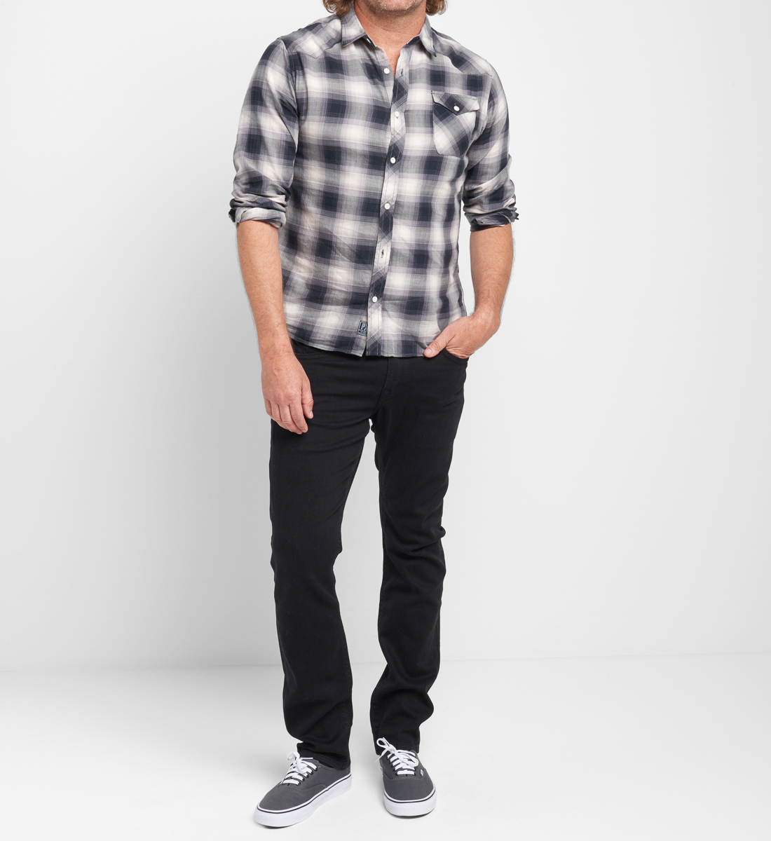 Bennet Plaid Button-Down Shirt Front