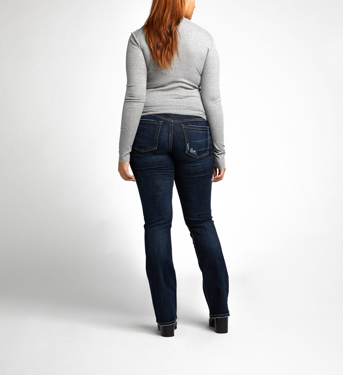 Elyse Slim Bootcut Maternity Jeans Side