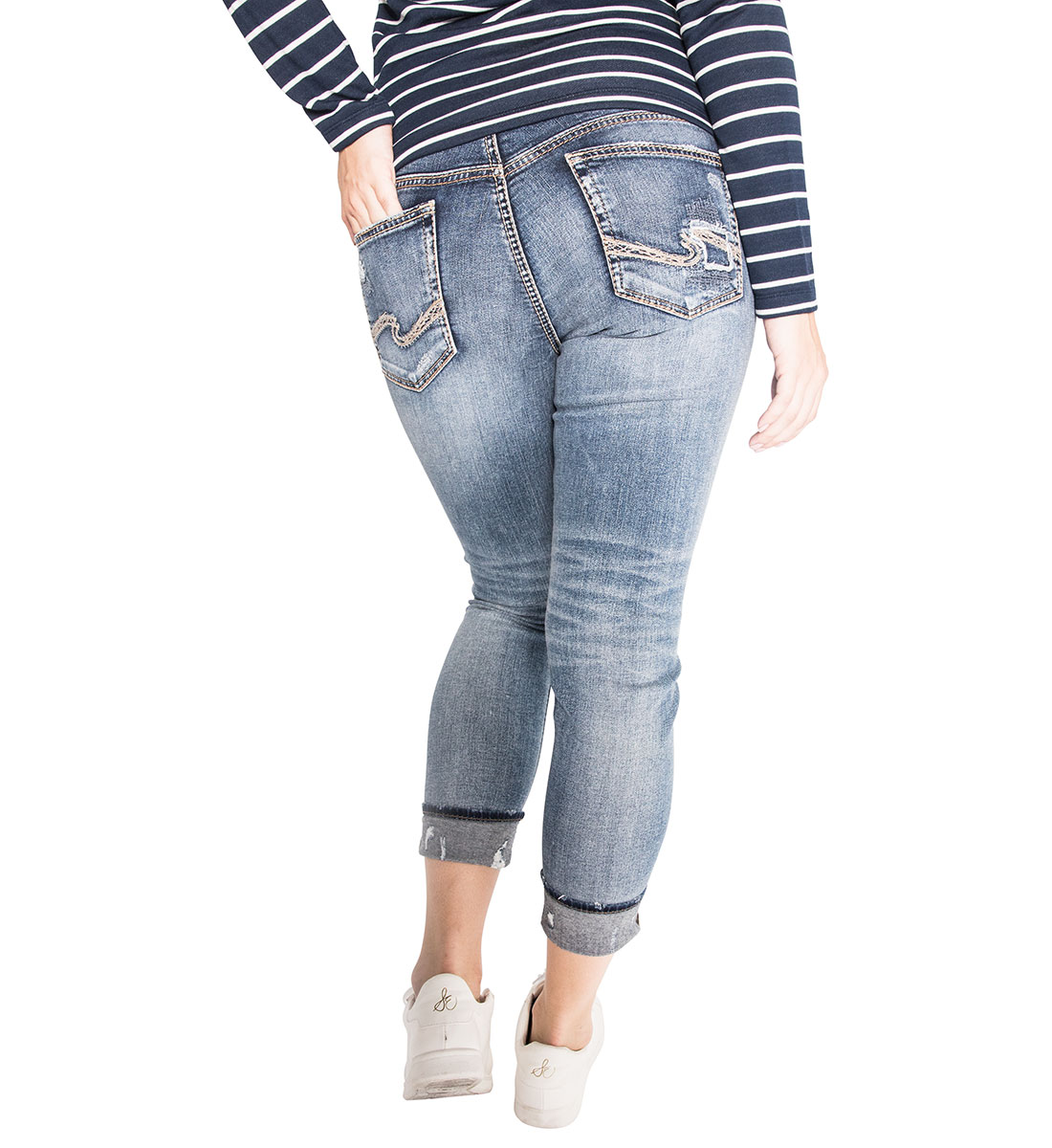 Girlfriend Skinny Leg Maternity Jeans Back