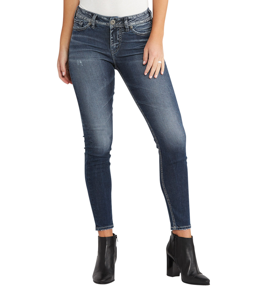 089ec111 Mazy Ankle Skinny Dark Wash | Silver Jeans