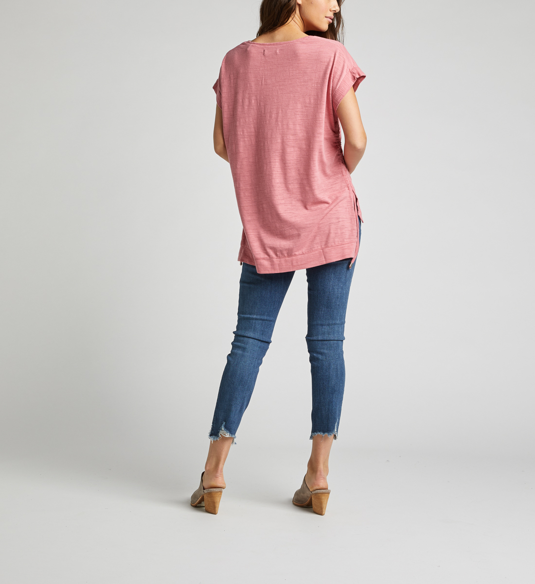 Agnes Side Tie Top,Rose Side