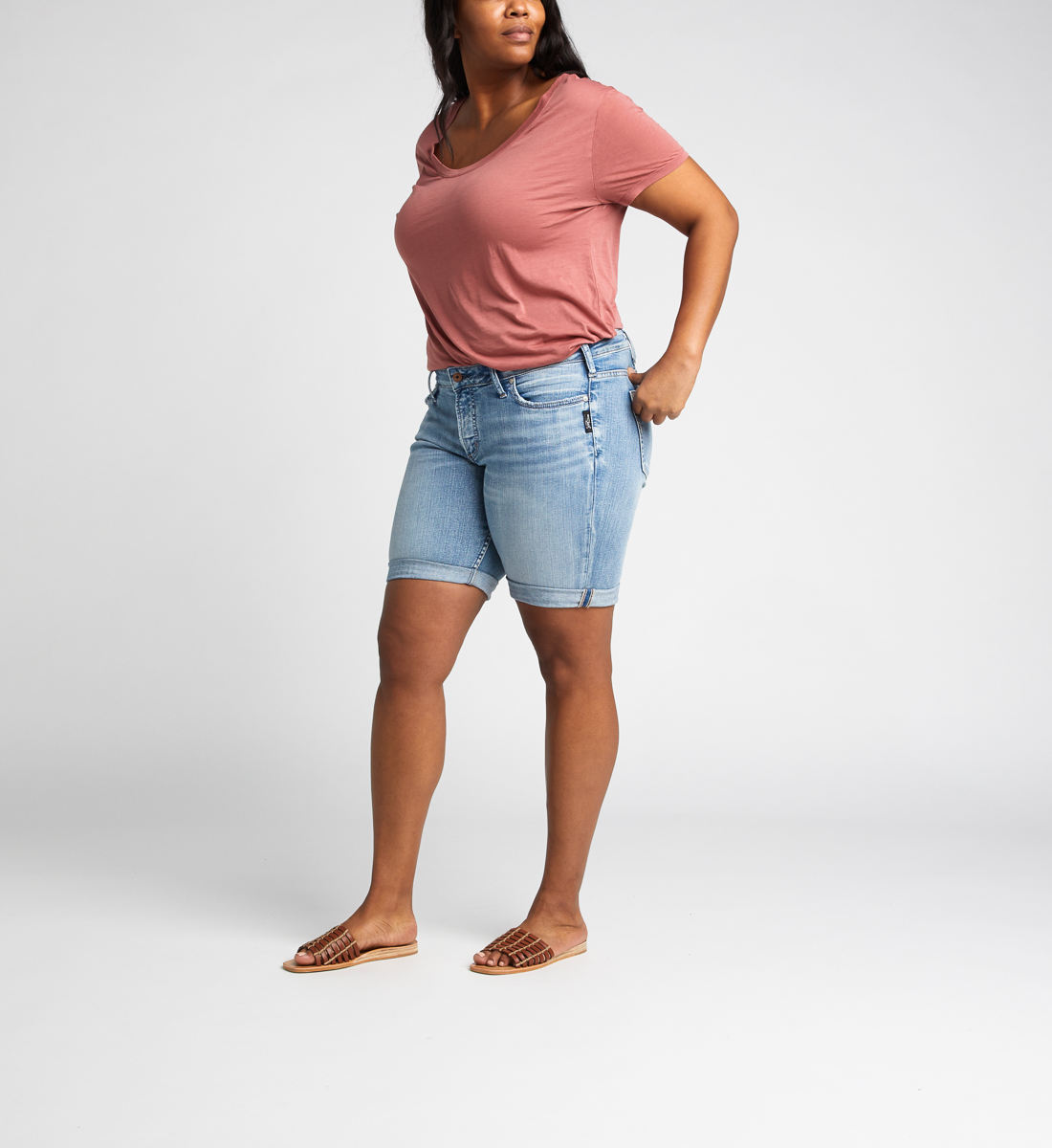 Suki Mid Rise Bermuda Short Plus Size Side
