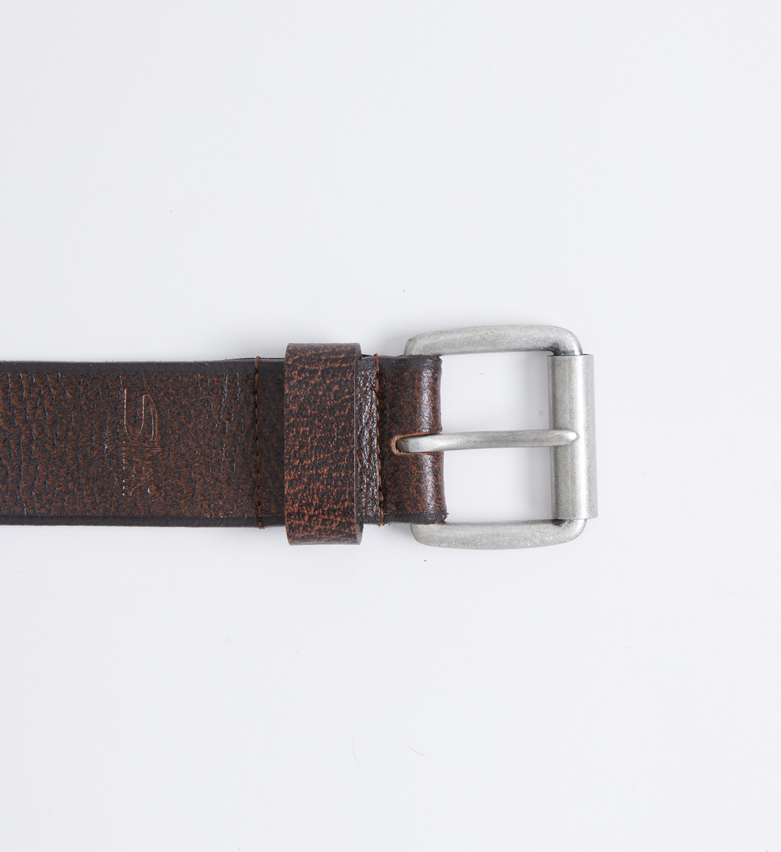 Pebbled Leather Mens Belt Front