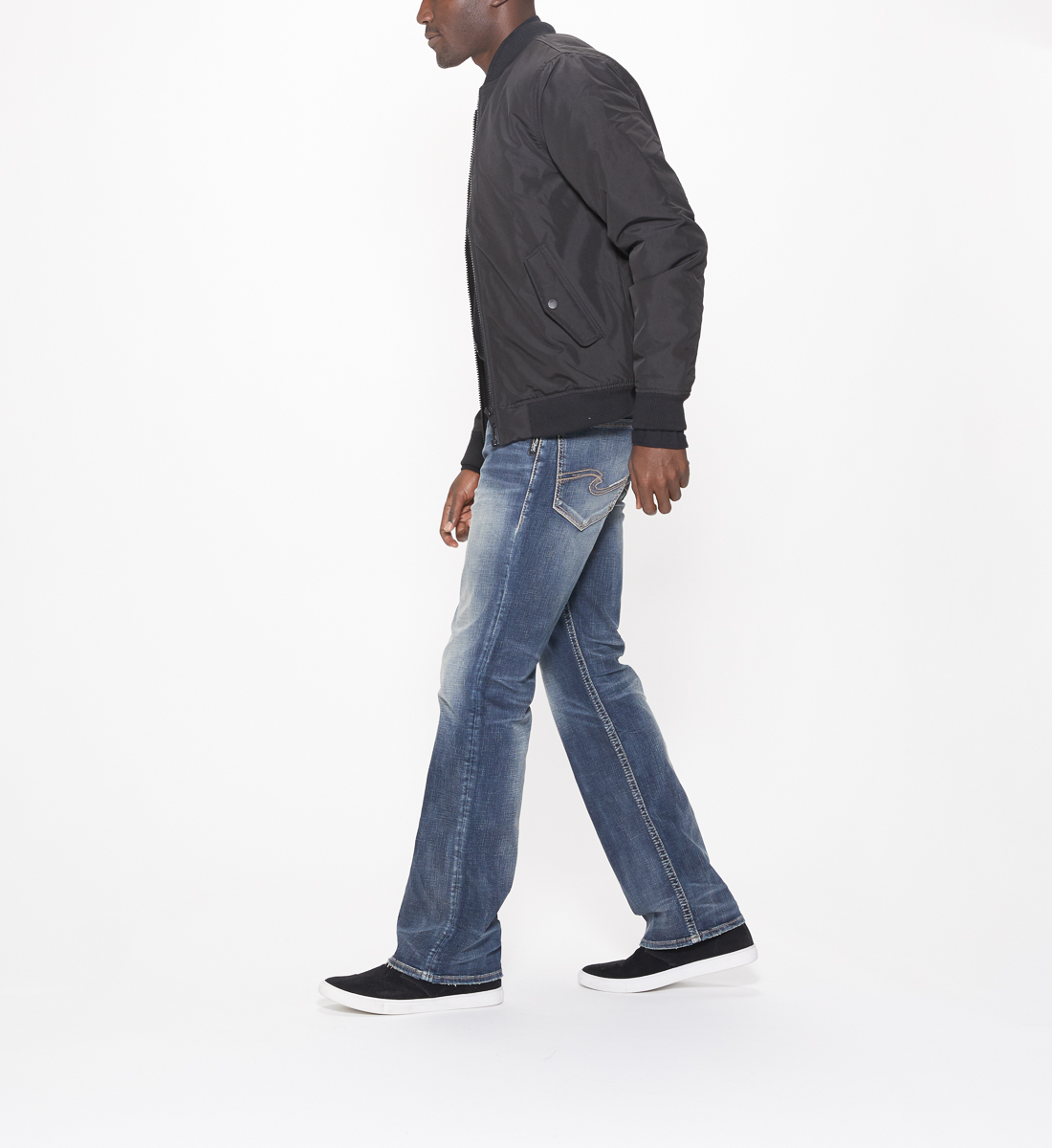 Craig Easy Fit Bootcut Jeans Side
