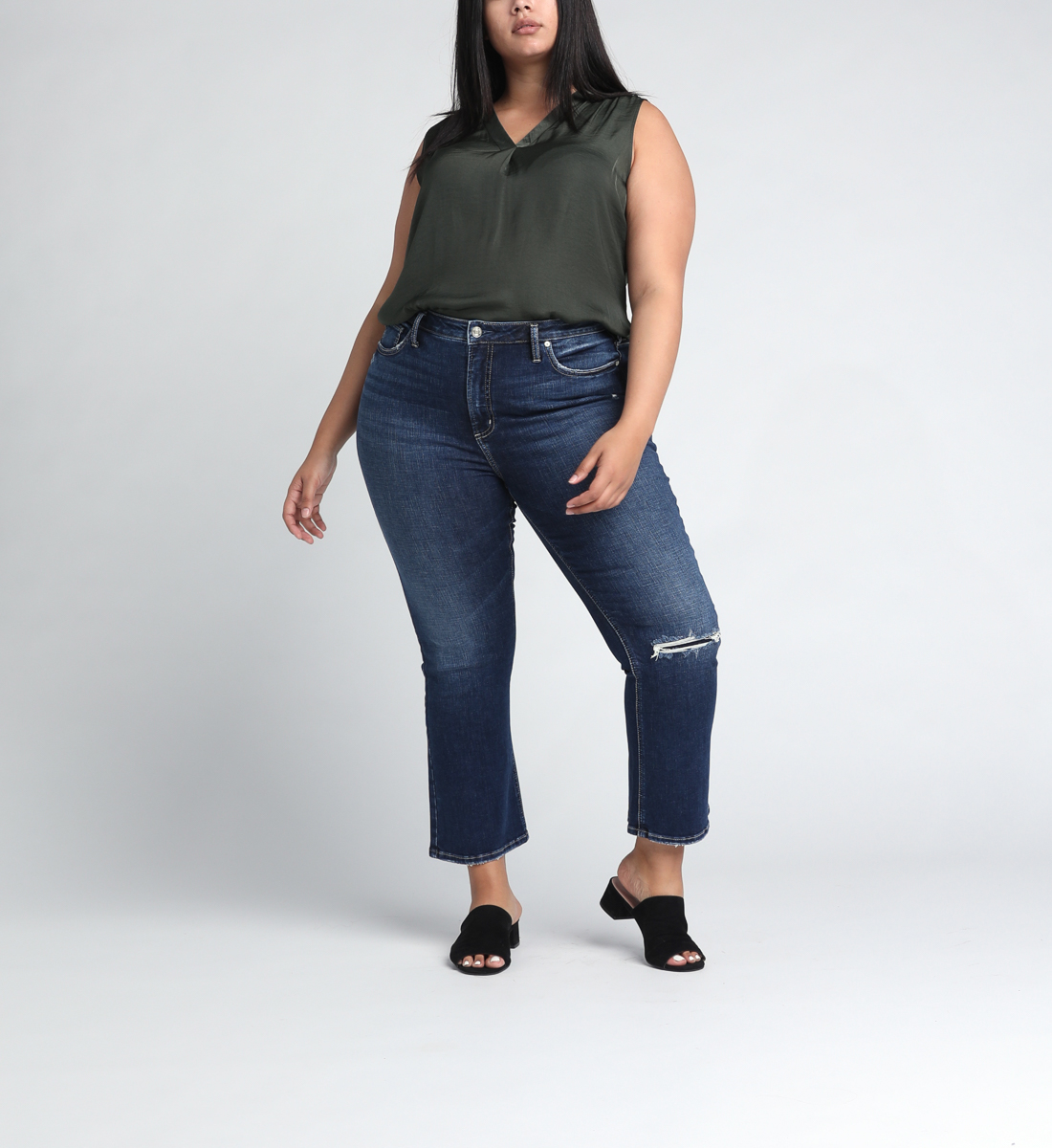 High Note High Rise Boot Crop Jeans Plus Size Alt Image 1