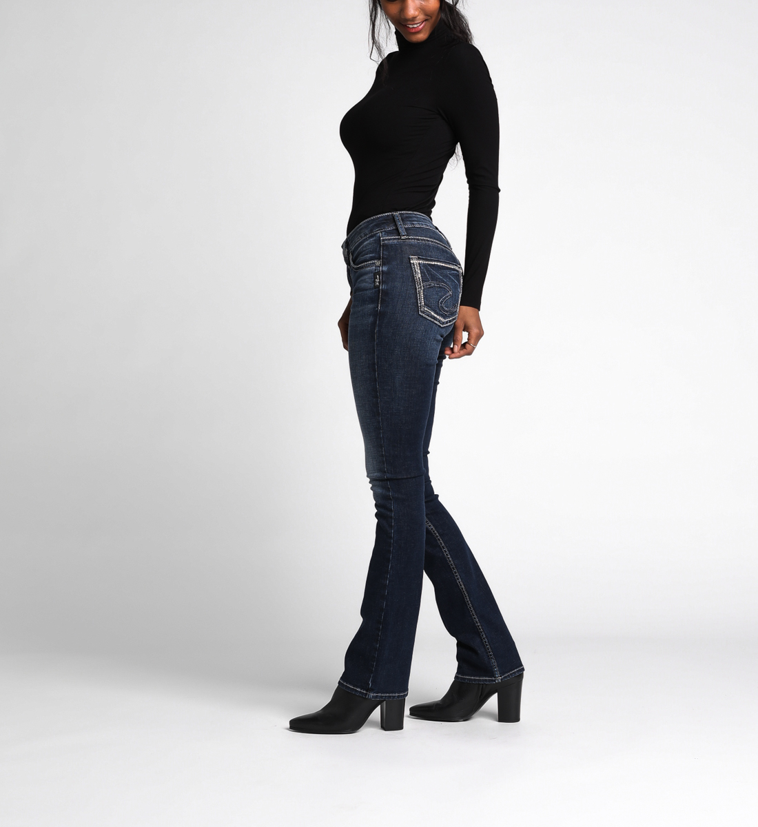 Avery High Rise Slim Bootcut Jeans, , hi-res