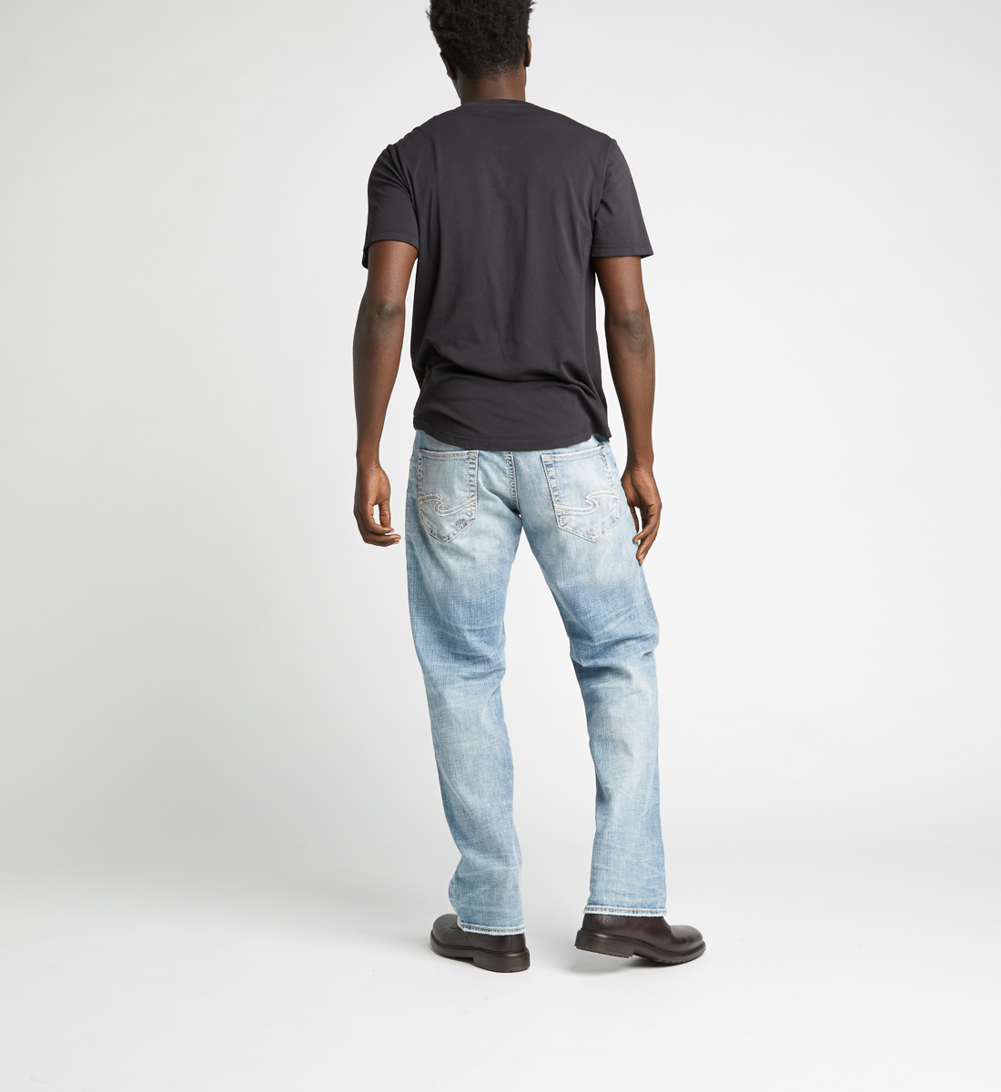 Zac Relaxed Fit Straight Leg Jeans Back