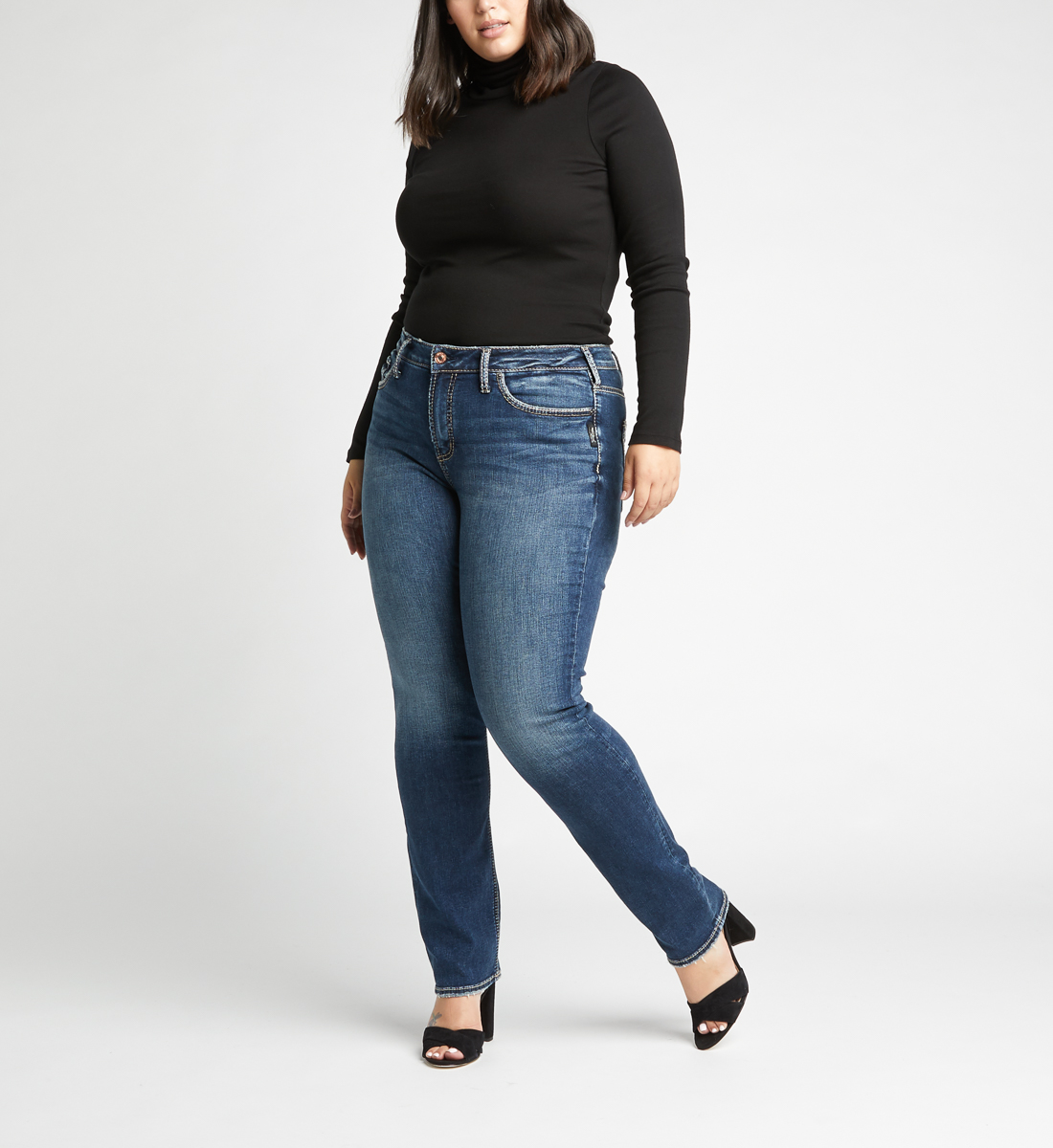 Avery High Rise Straight Leg Plus Size Jeans Alt Image 1