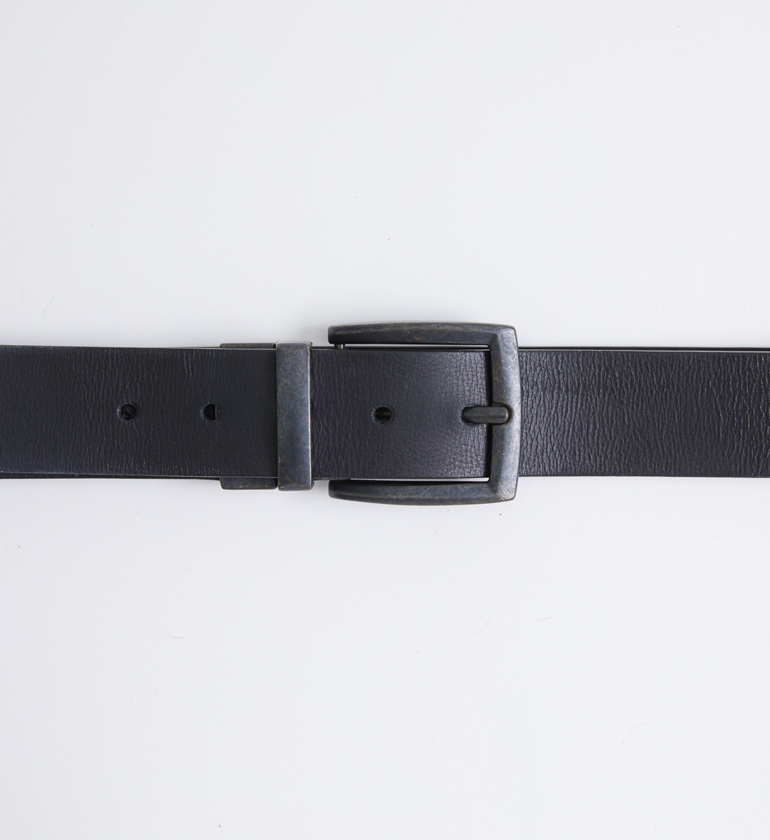 Reversible Leather Mens Belt Side