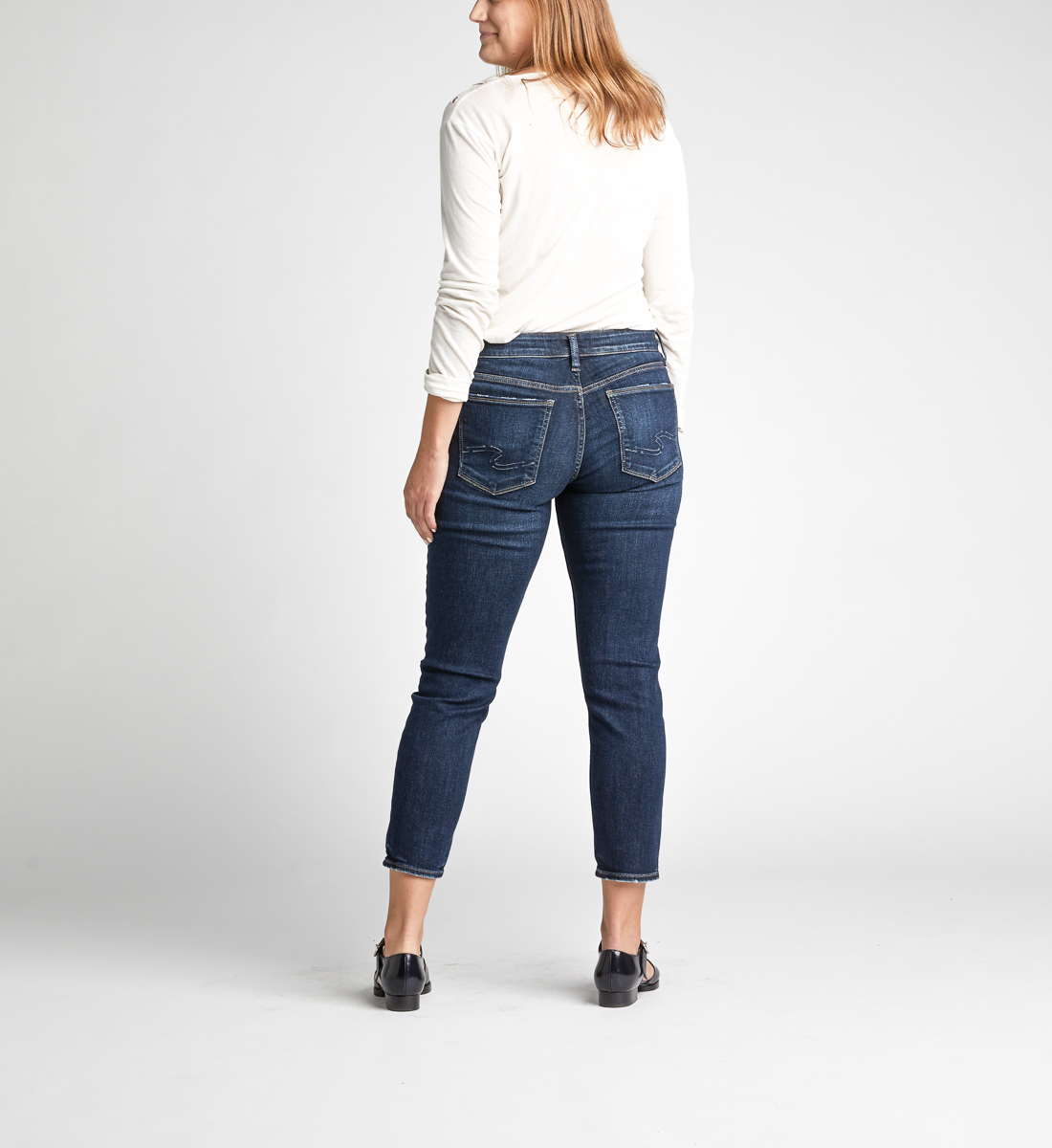 Avery High Rise Skinny Crop Jeans Alt Image 3