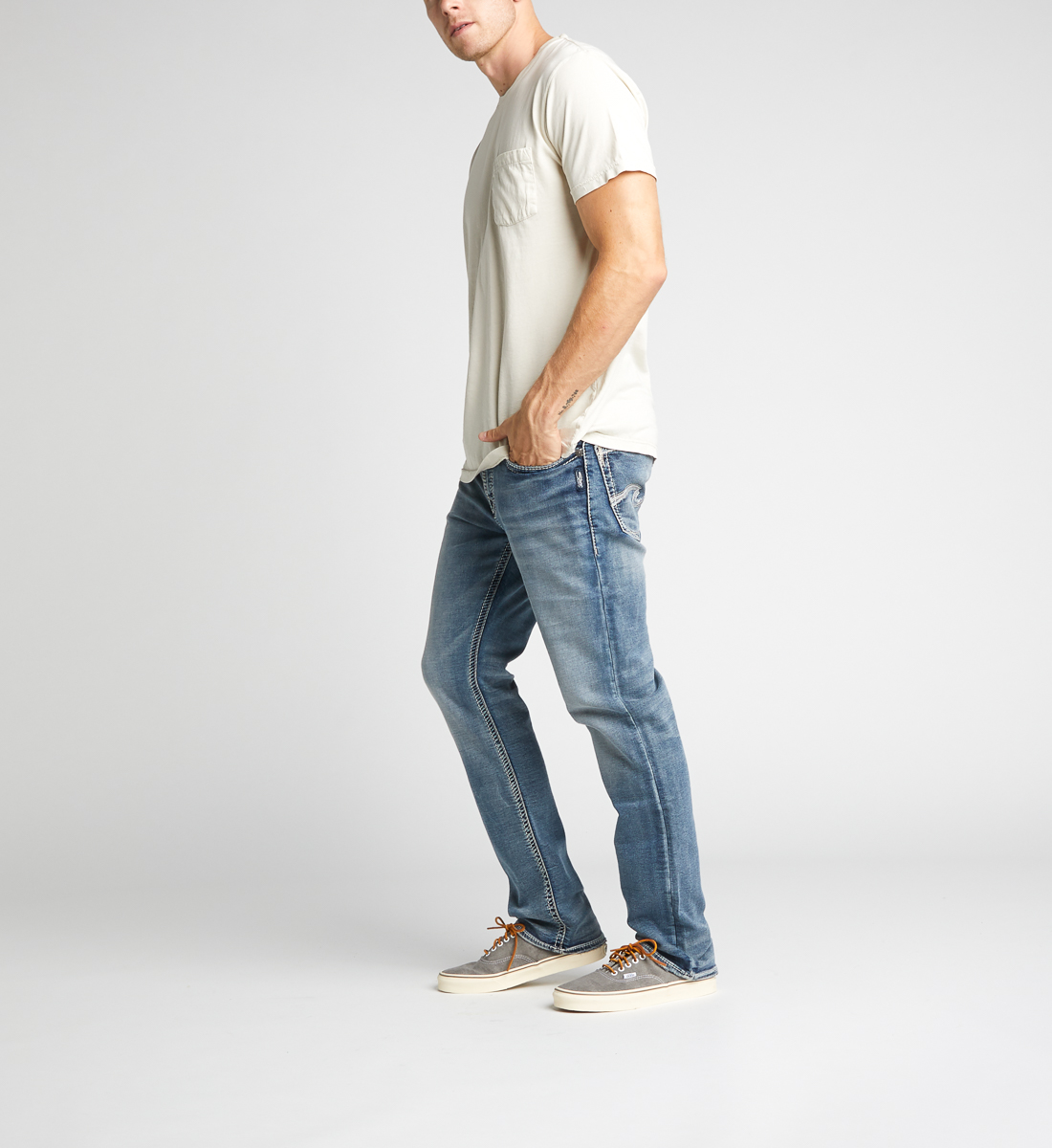 Grayson Easy Fit Straight Leg Jeans - Big & Tall Side
