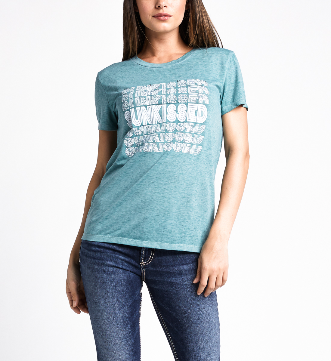 Mara Sunkissed Graphic Tee,Dusty Green Front